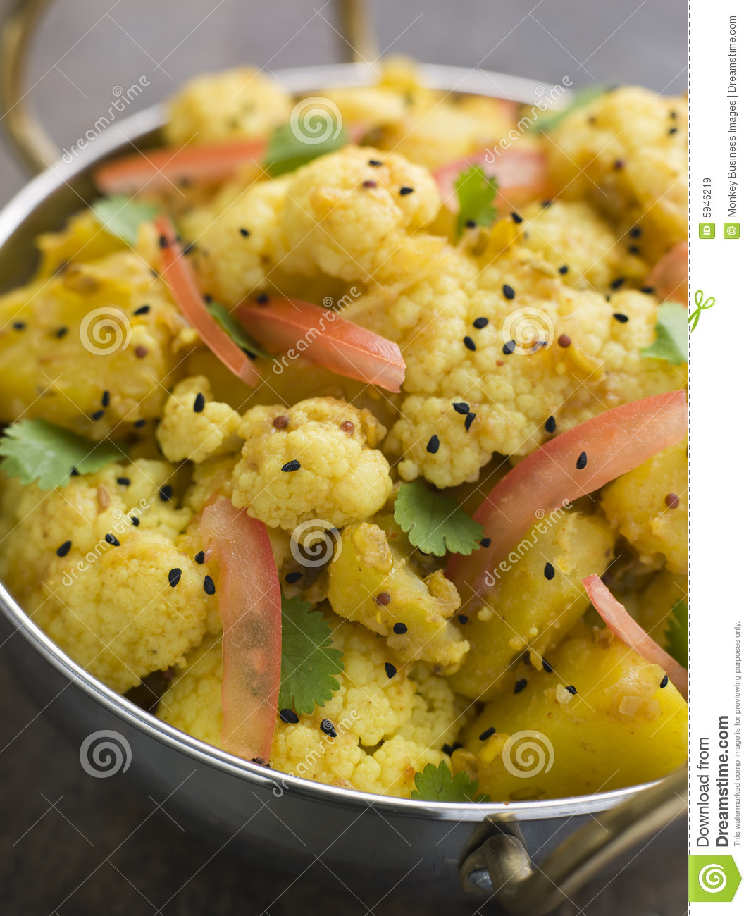 Gobi Aloo - Spiced Cauliflower And Potato Royalty Free Stock Images ...