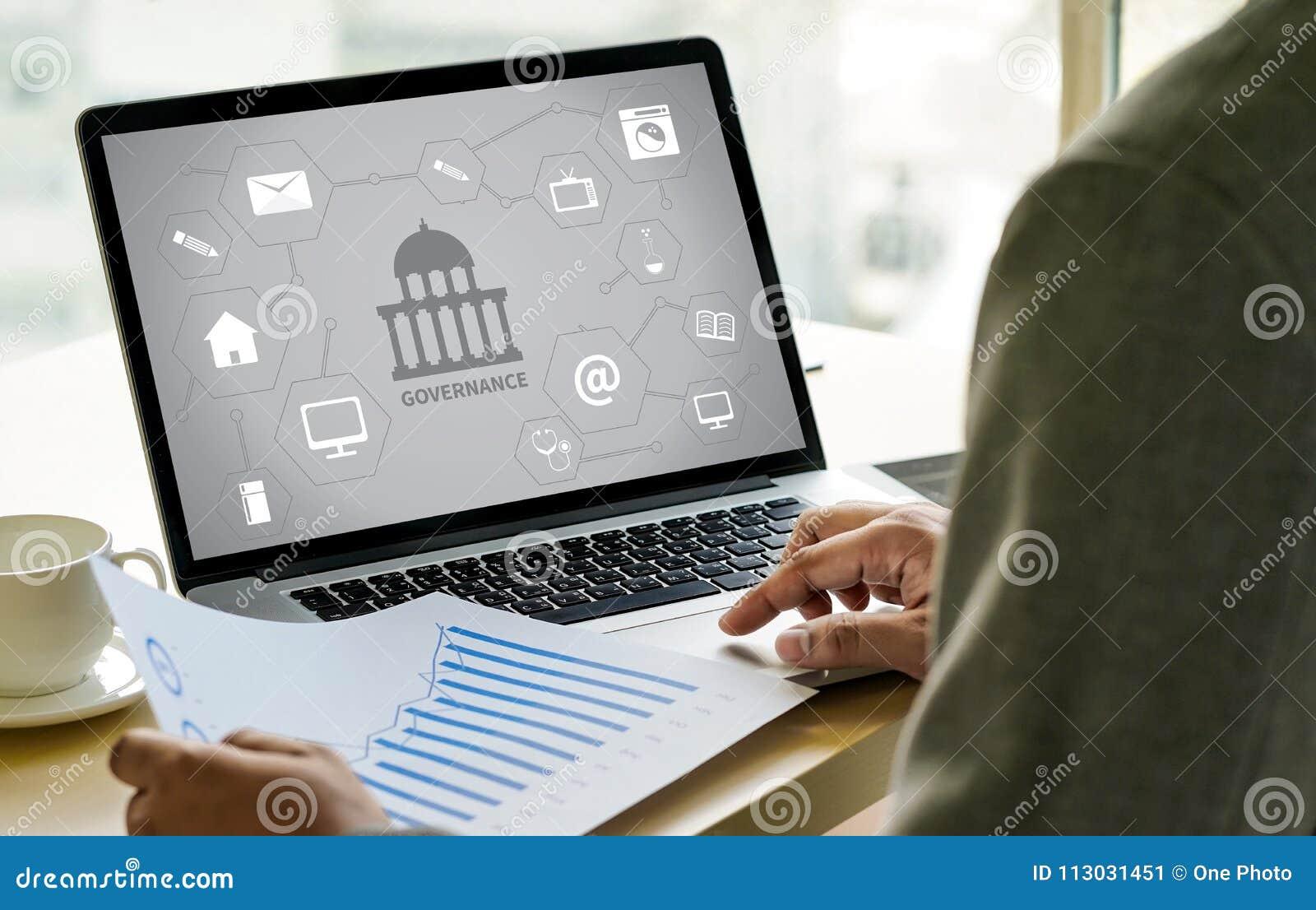 GOBIERNO y edificio, ingenio computacional del ordenador portátil del ordenador de la autoridad
