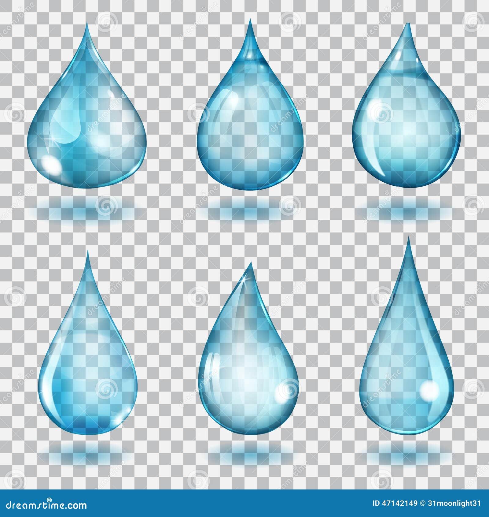 Gocce blu trasparenti