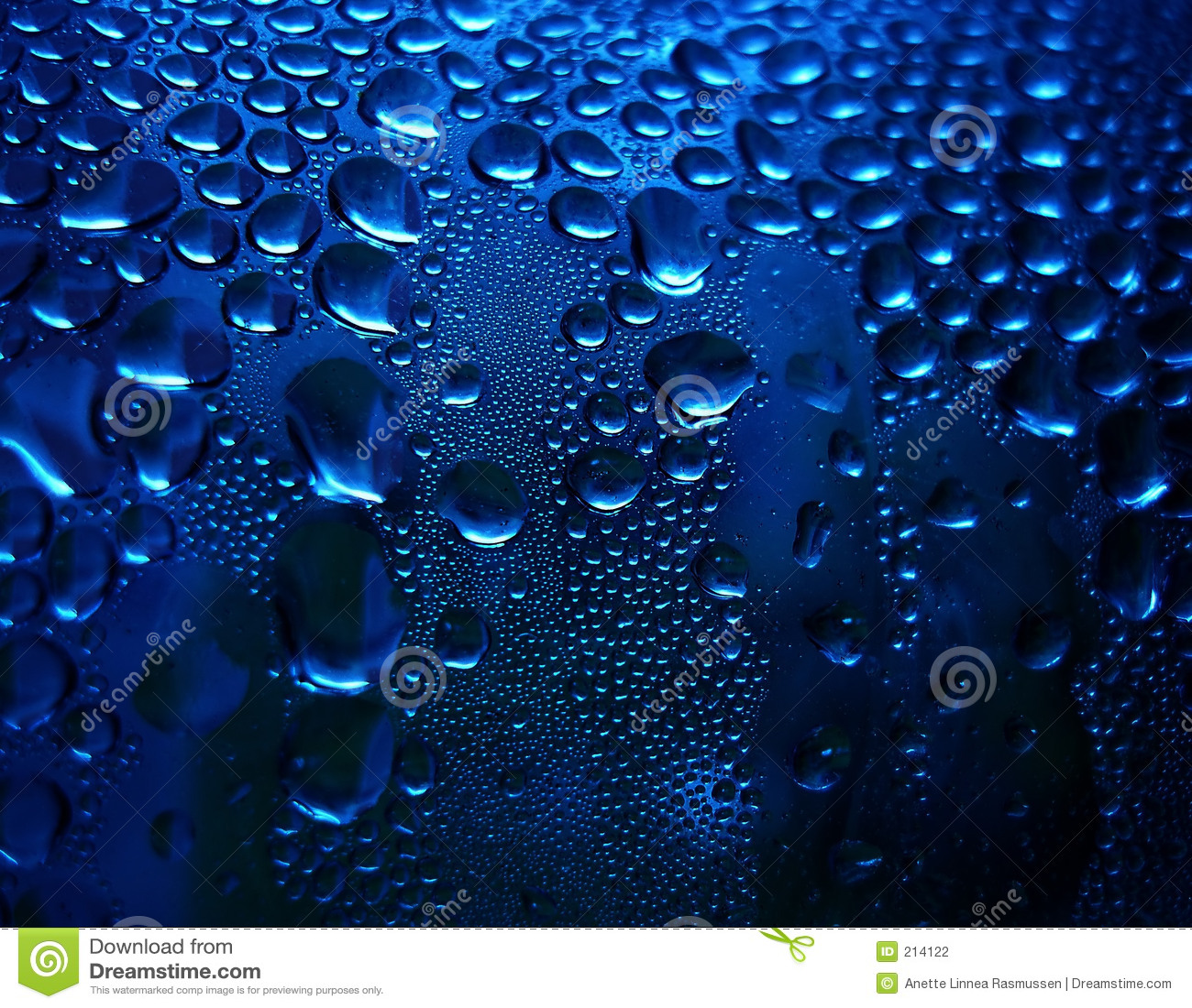 Gocce scintillanti blu