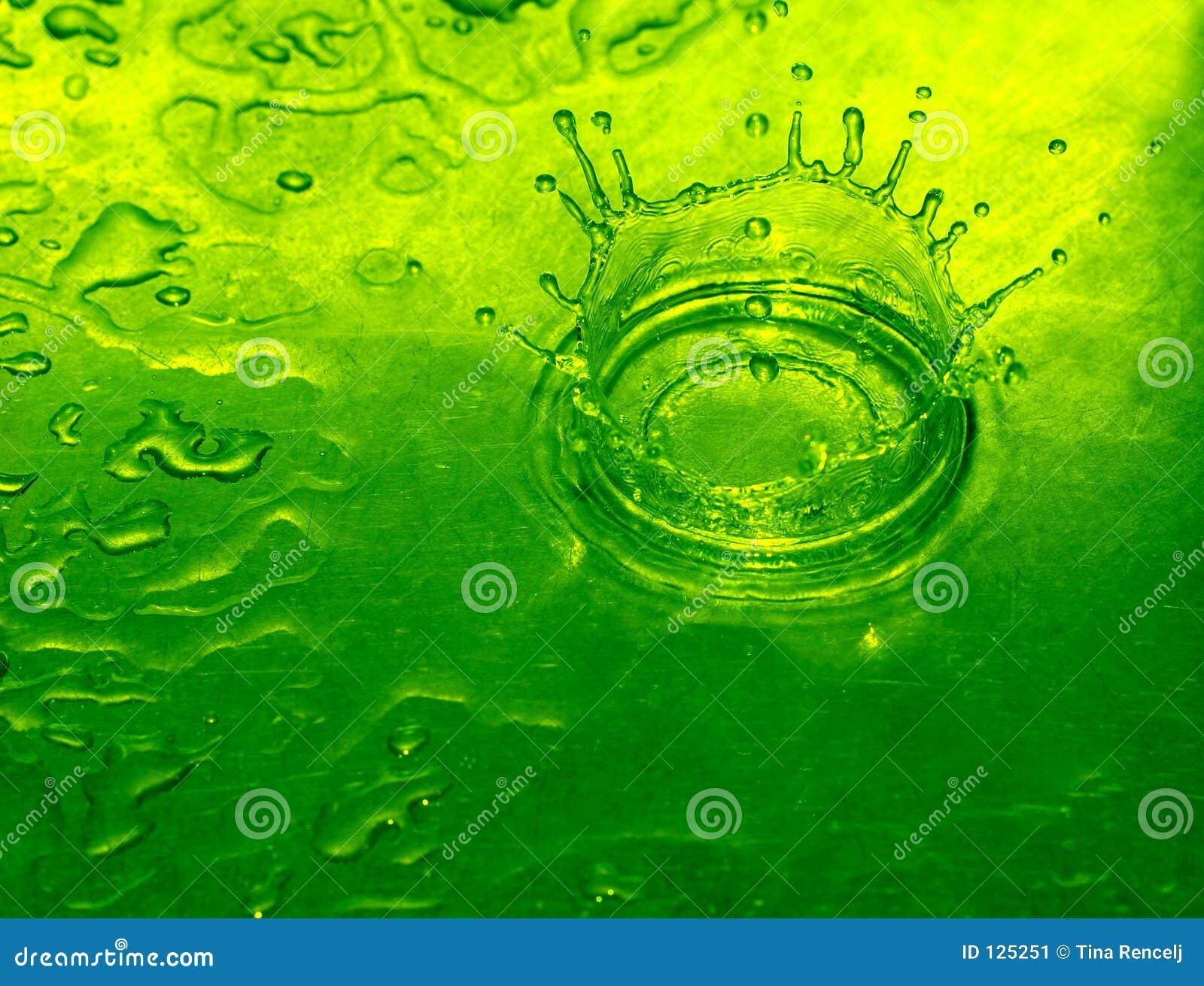 Goccia dell acqua di calce