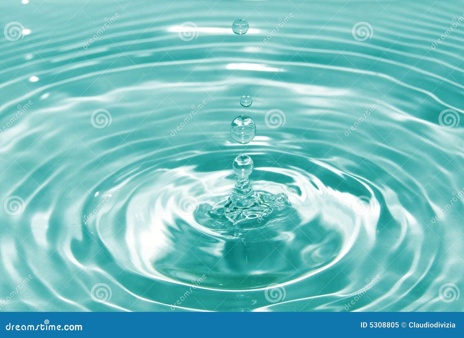 Download Goccia di acqua immagine stock. Immagine di acqua, mare - 5308805