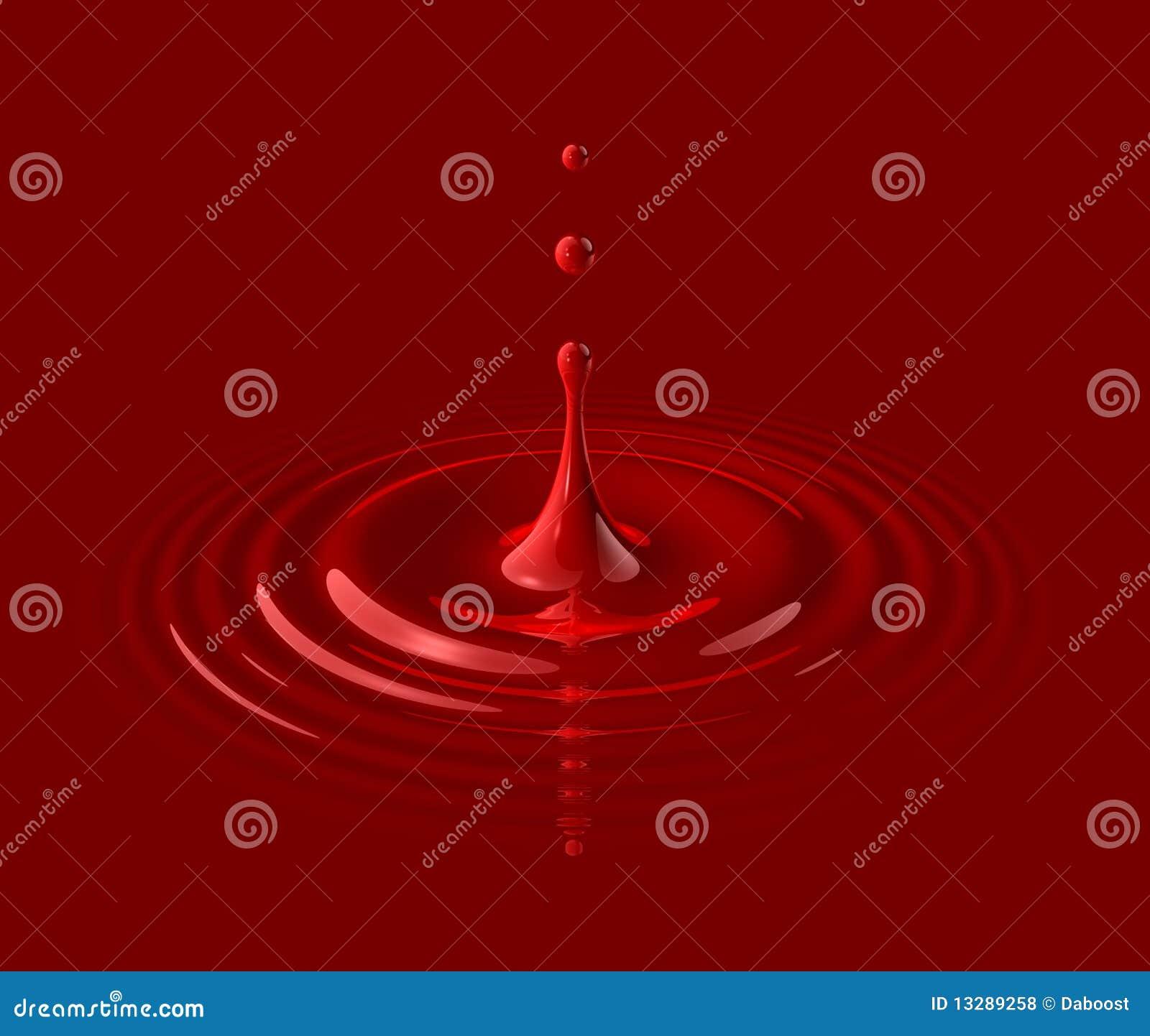 Goccia di anima e dell ondulazione rosse