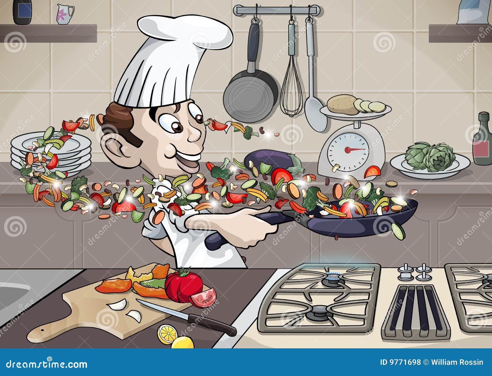 Goce el cocinar