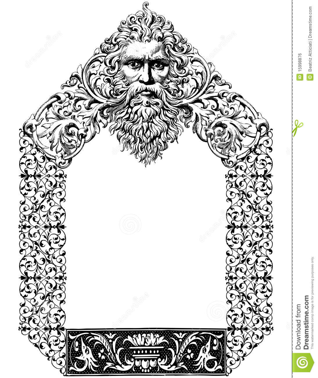 Victorian style frame with a God´s figure as the main subject.