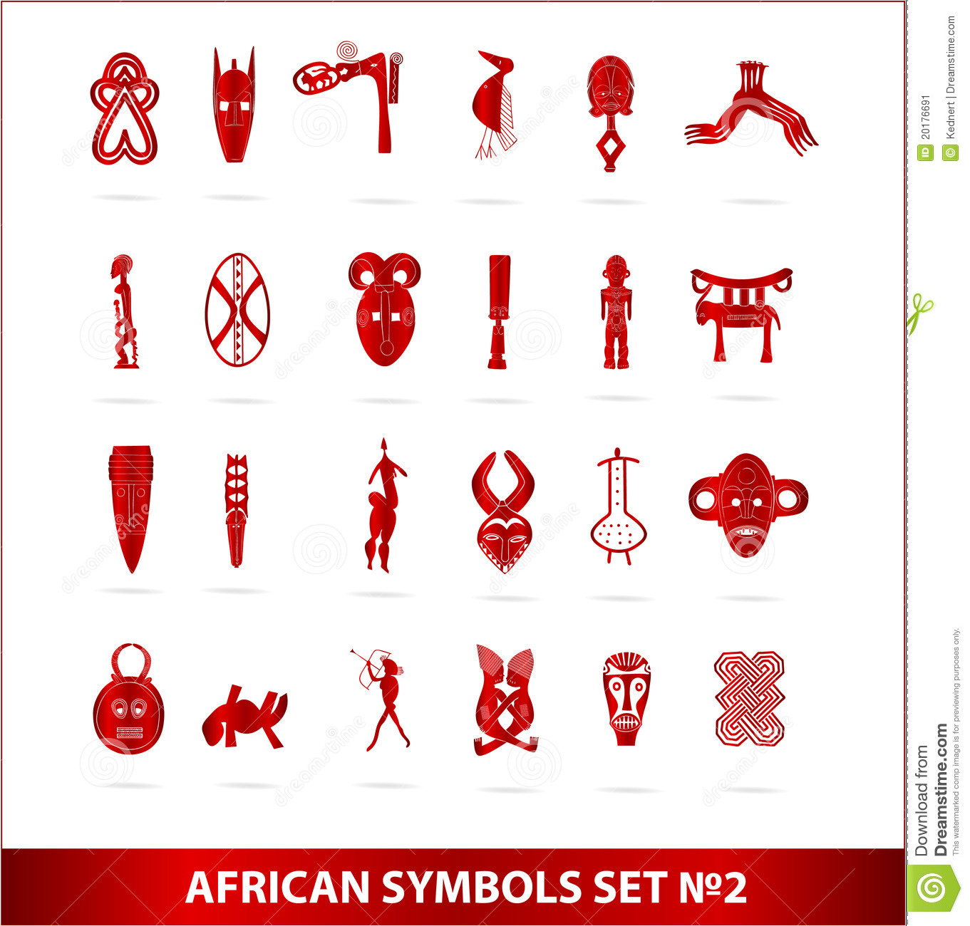 Adinkra symbols stock vector illustration of symbols 16457489 god african symbols set red color stock image biocorpaavc Image collections