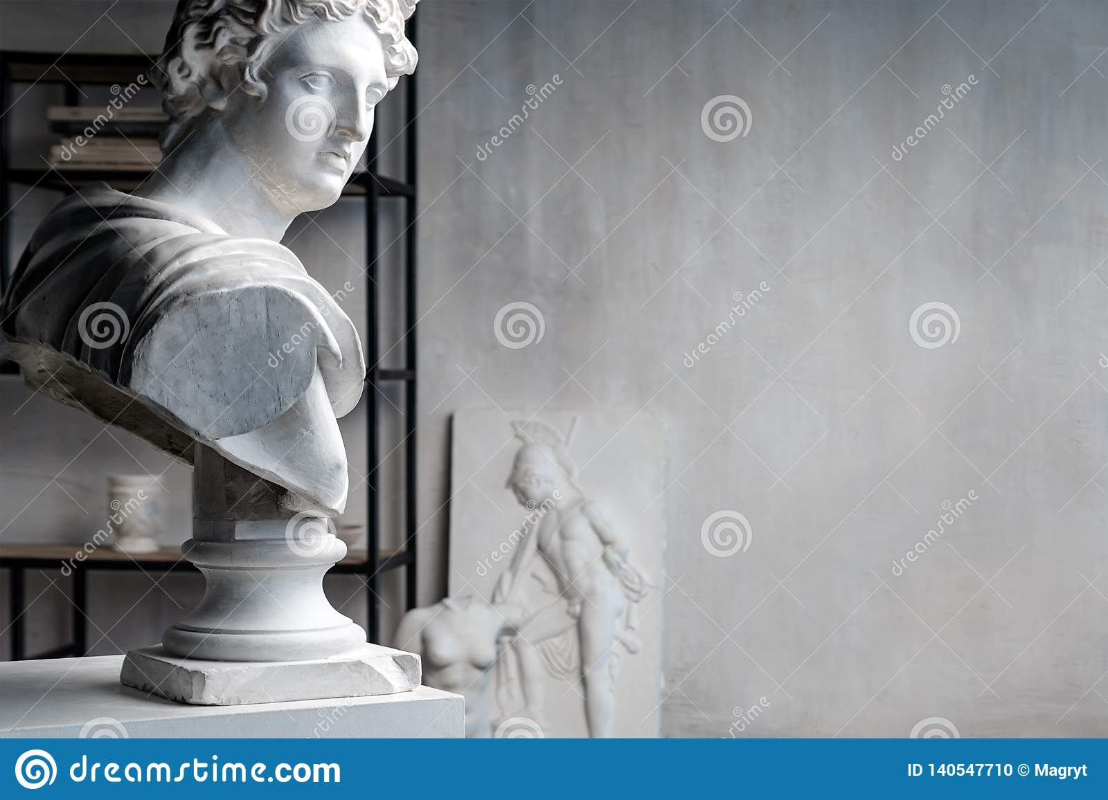 God Apollo Bust Sculpture  Ancient Greek God Of Sun And