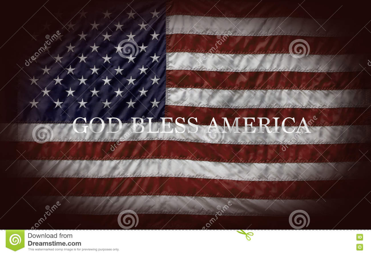 God Bless America Stock Image Image Of Flag Blue White 80768953