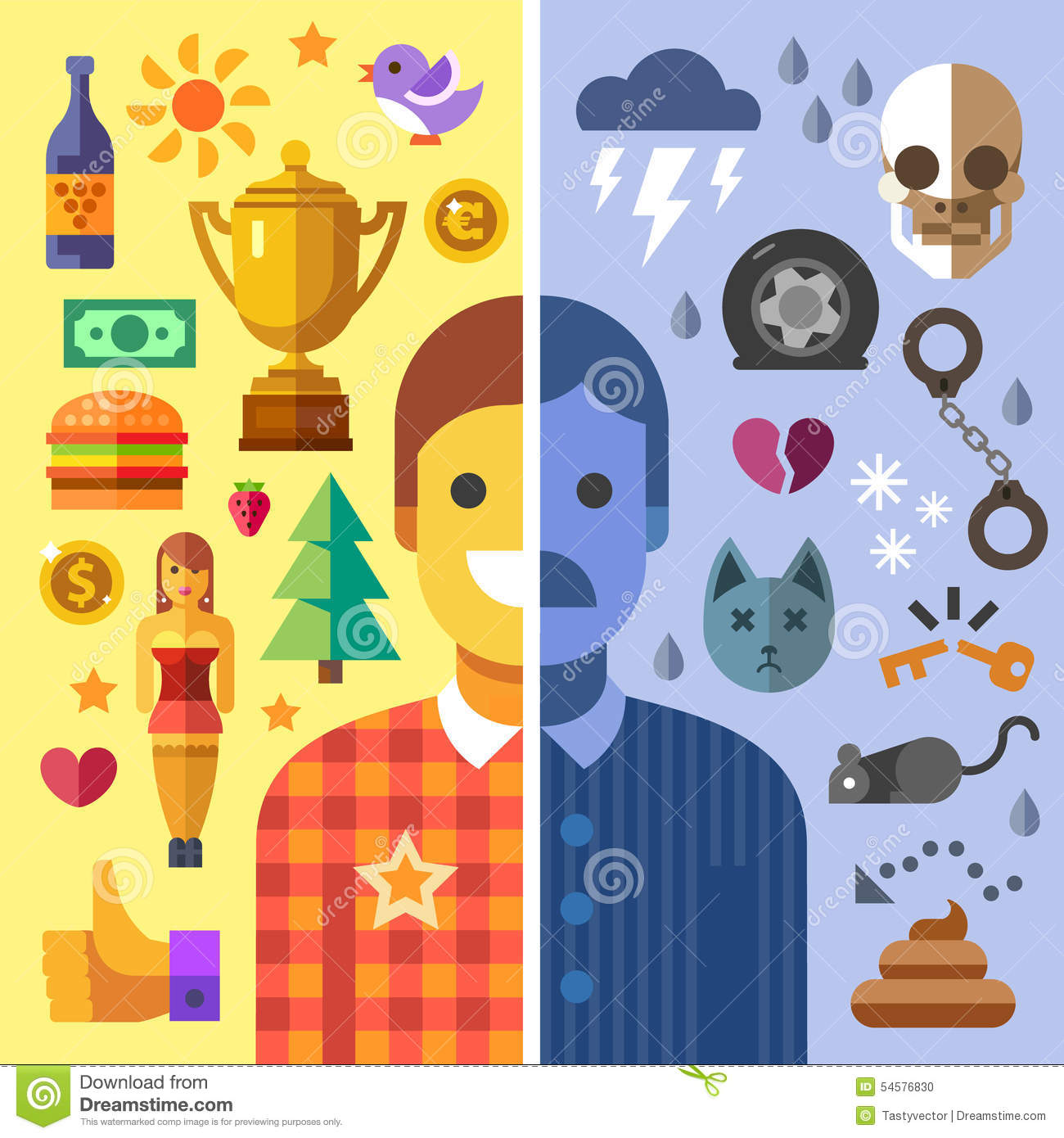God and evil in man stock vector illustration of hell - Download god is good all the time ...