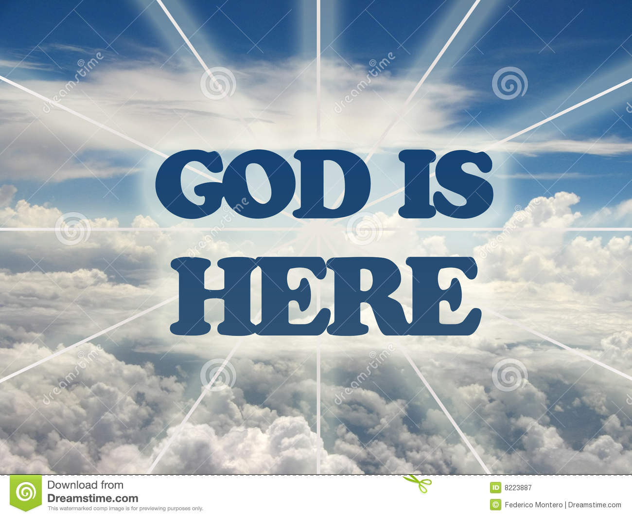 God Is Here. Royalty Free Stock Photography - Image: 8223887
