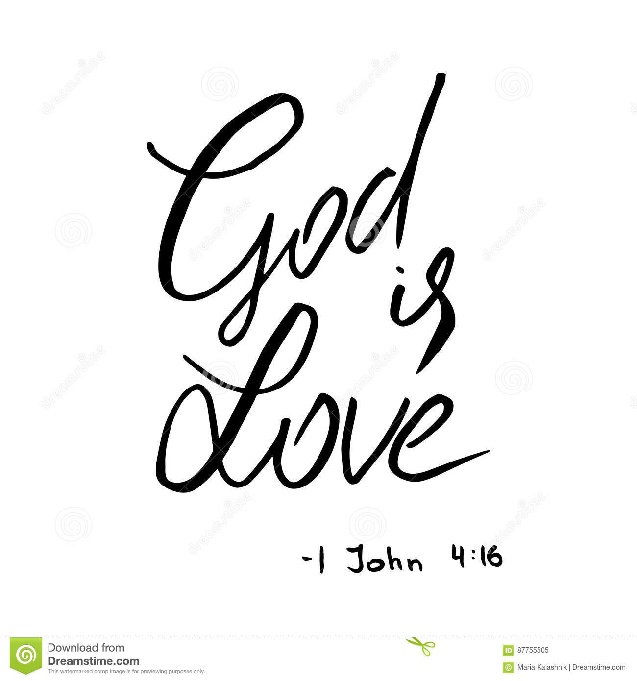 god is love quote lettering stock illustration illustration of