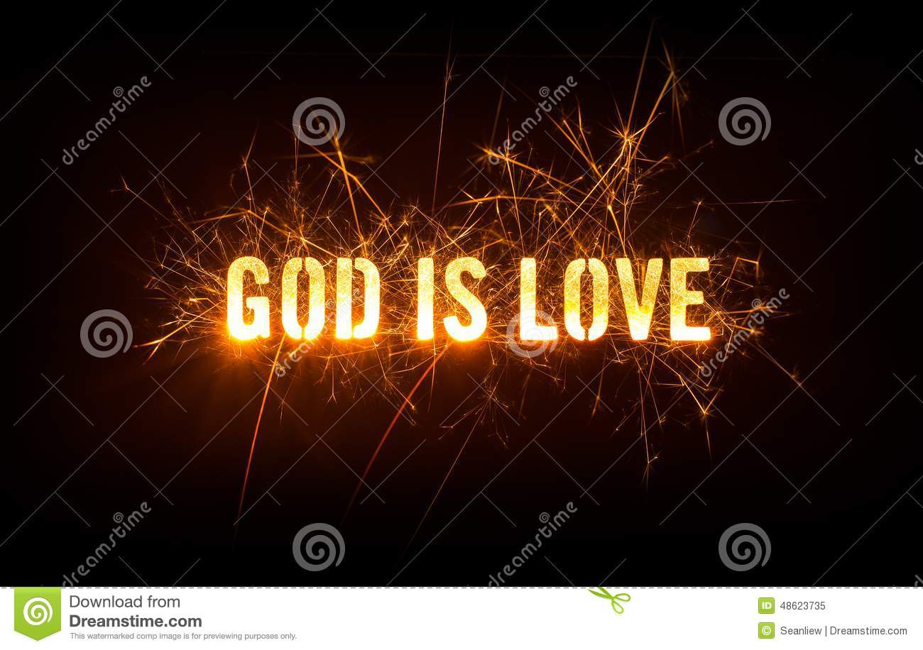 God Is Love Title On Dark Background. Stock Photo - Image: 48623735
