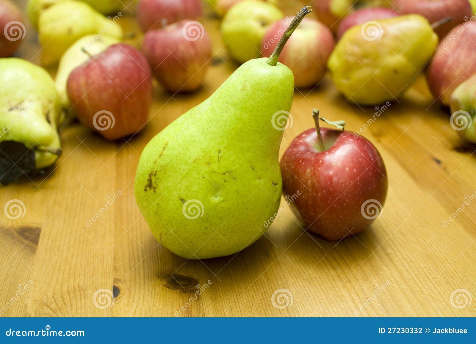 God match! litet äpple för stor pear
