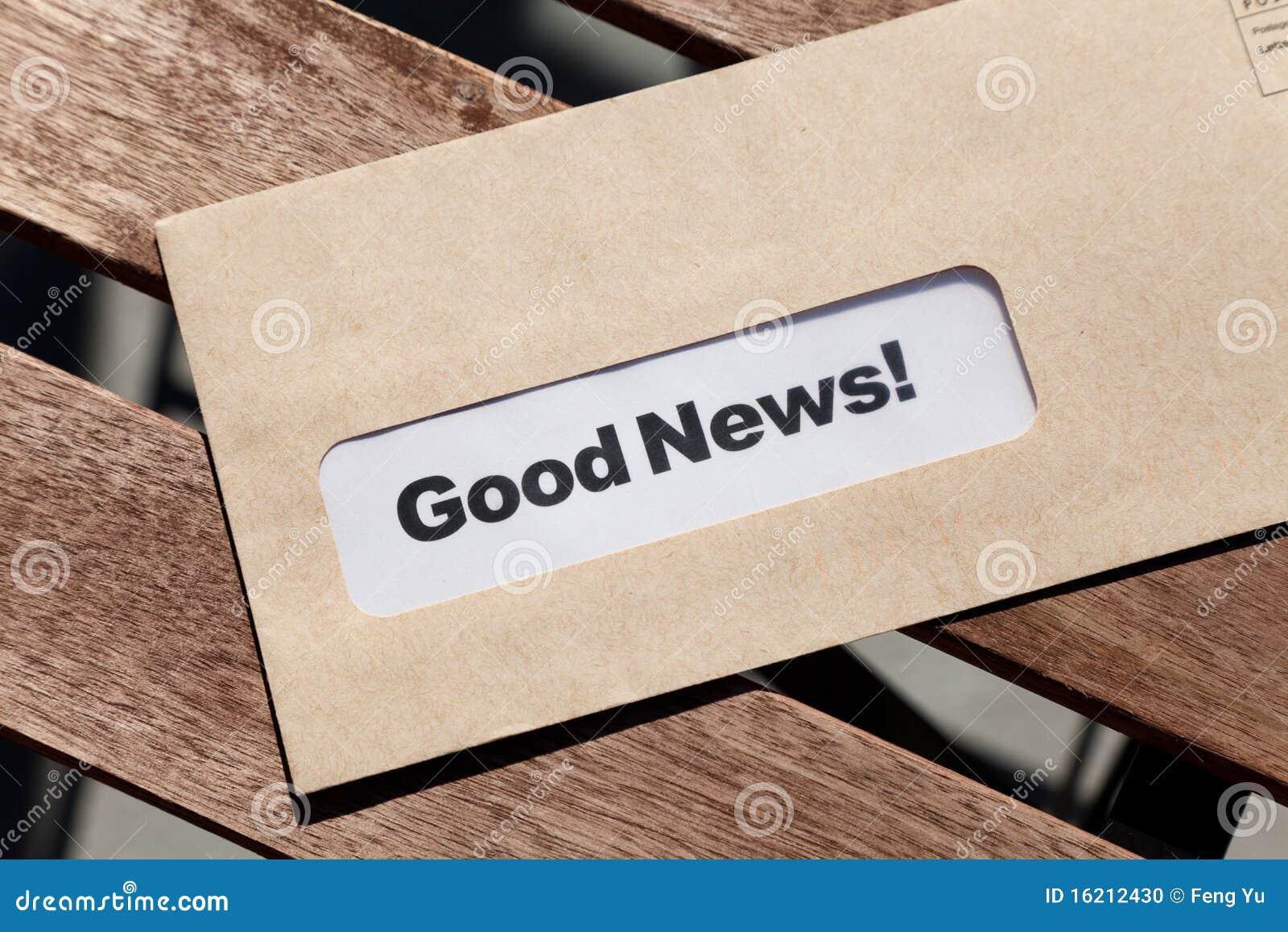 God nyheterna för kuvert