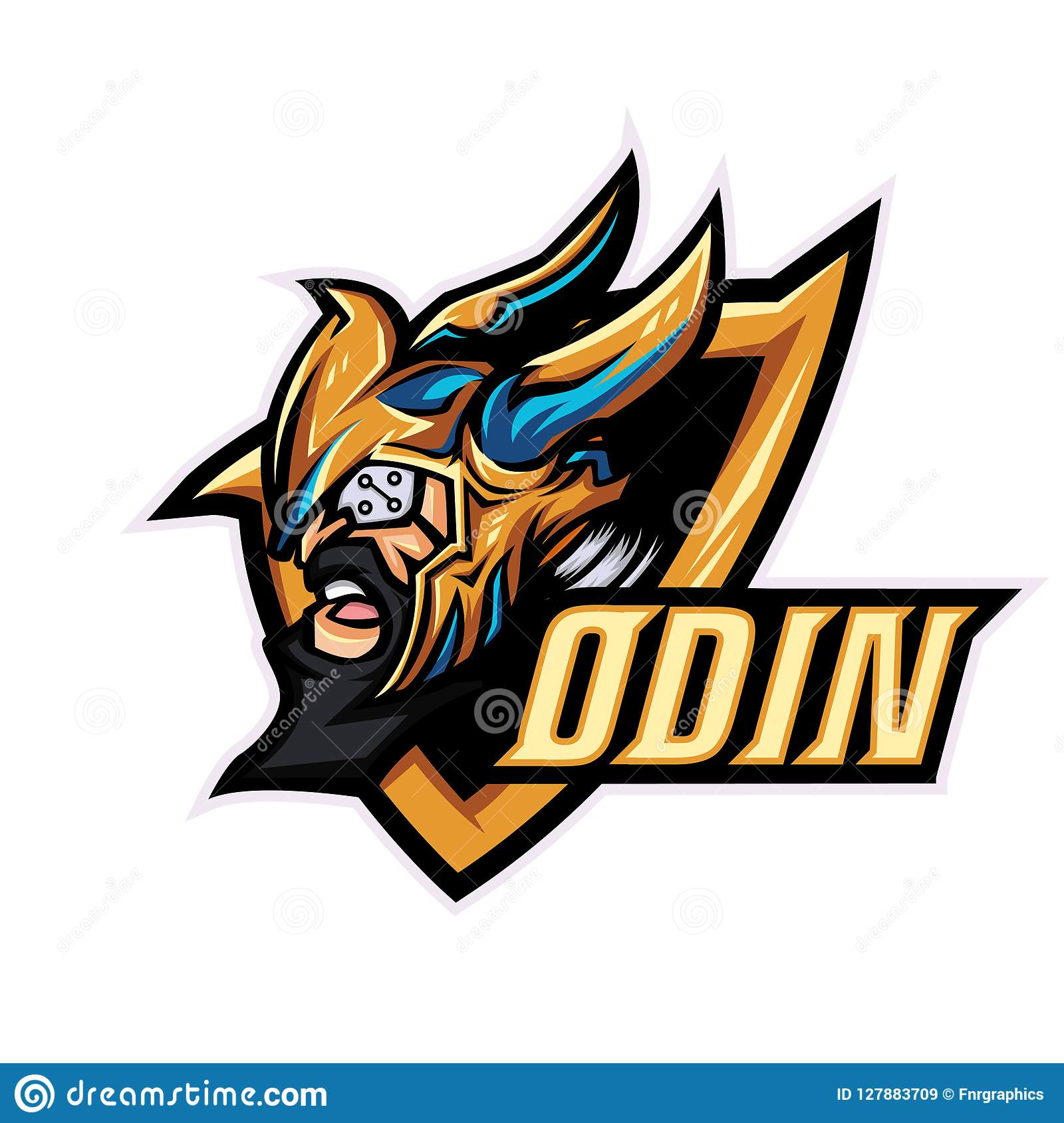 18171529 God Odin Mascot Logo Template For Sport, Game Crew, Company Logo ...