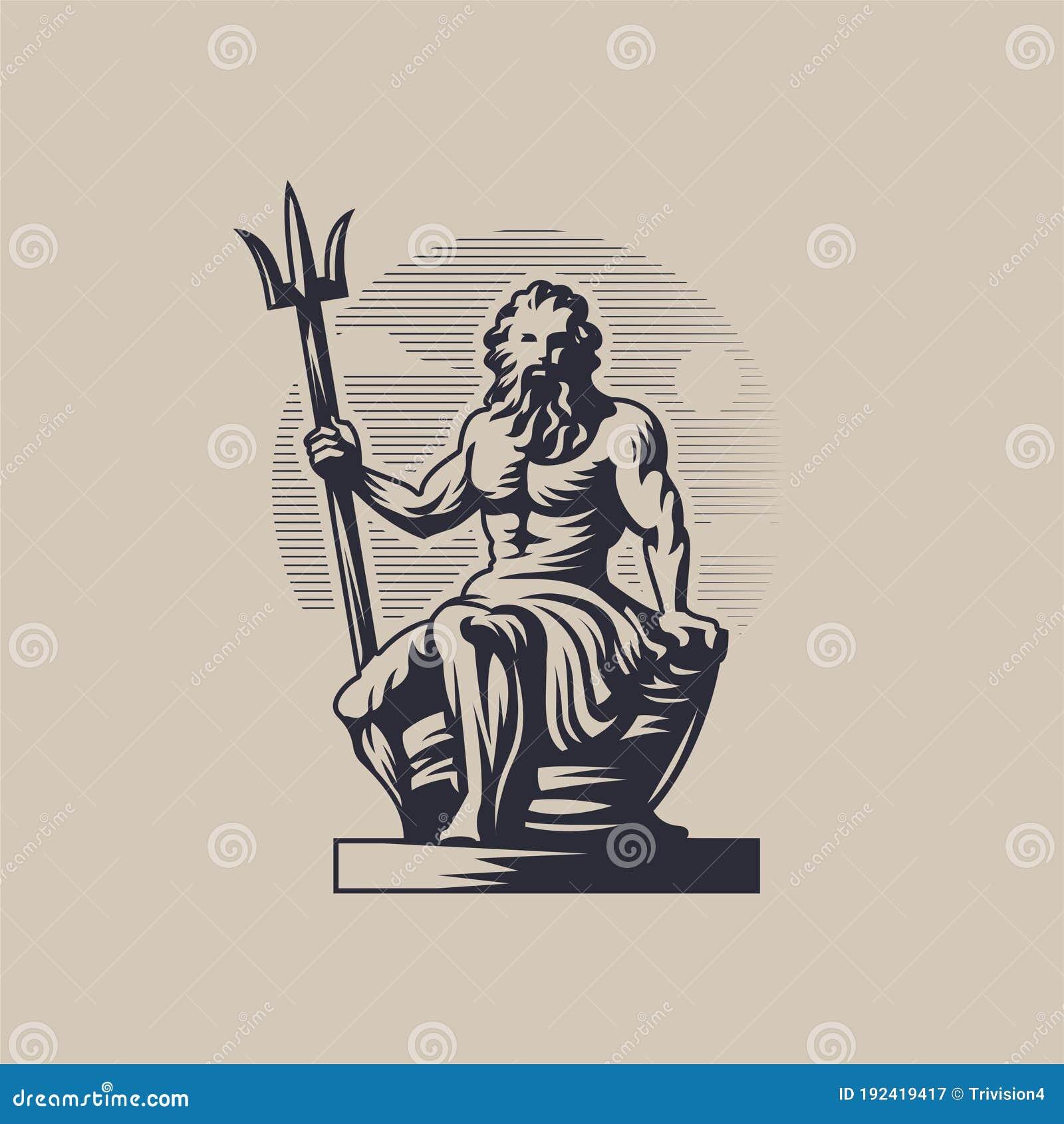 Triton, God Vector Illustration