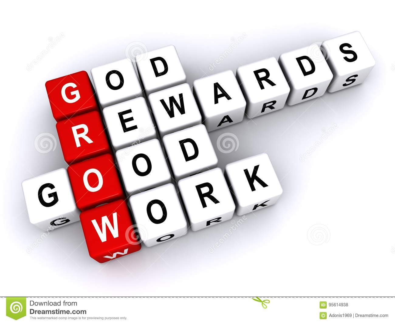 God Rewards Good Work Stock Illustration Illustration Of Background