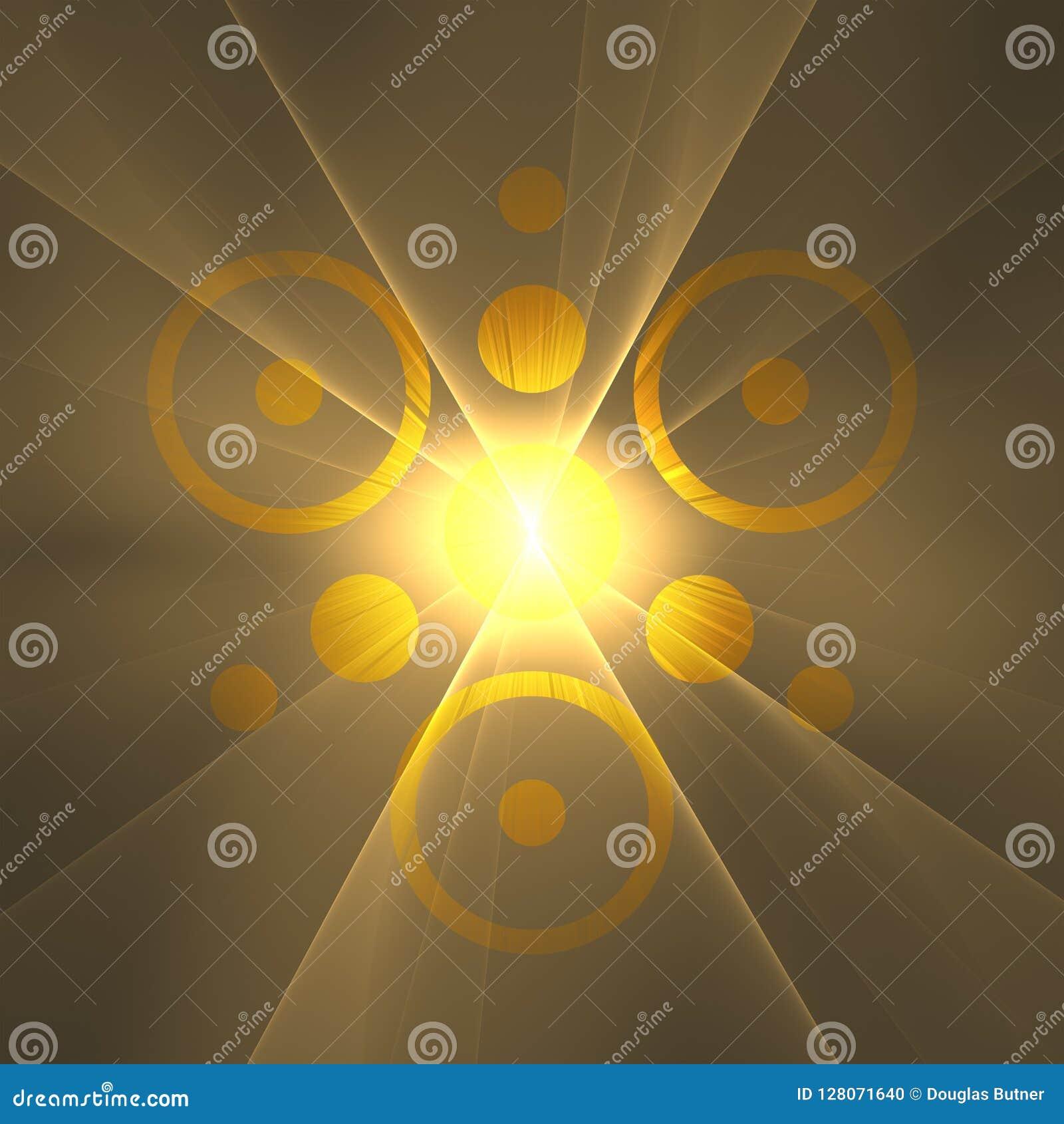 God Sol Explosion Of Love And Light Fractal Art Background