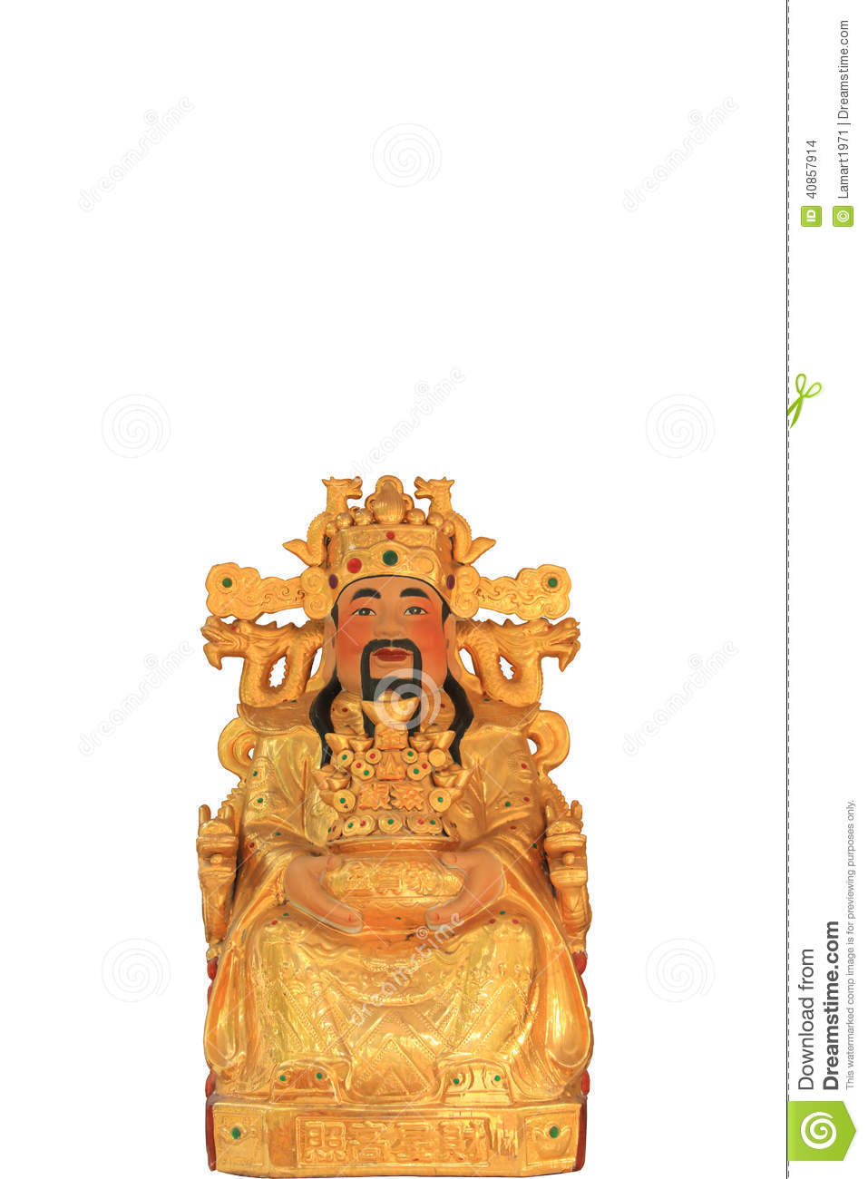 The god of wealth in chinese shrine stock photo image of lucky royalty free stock photo buycottarizona Images