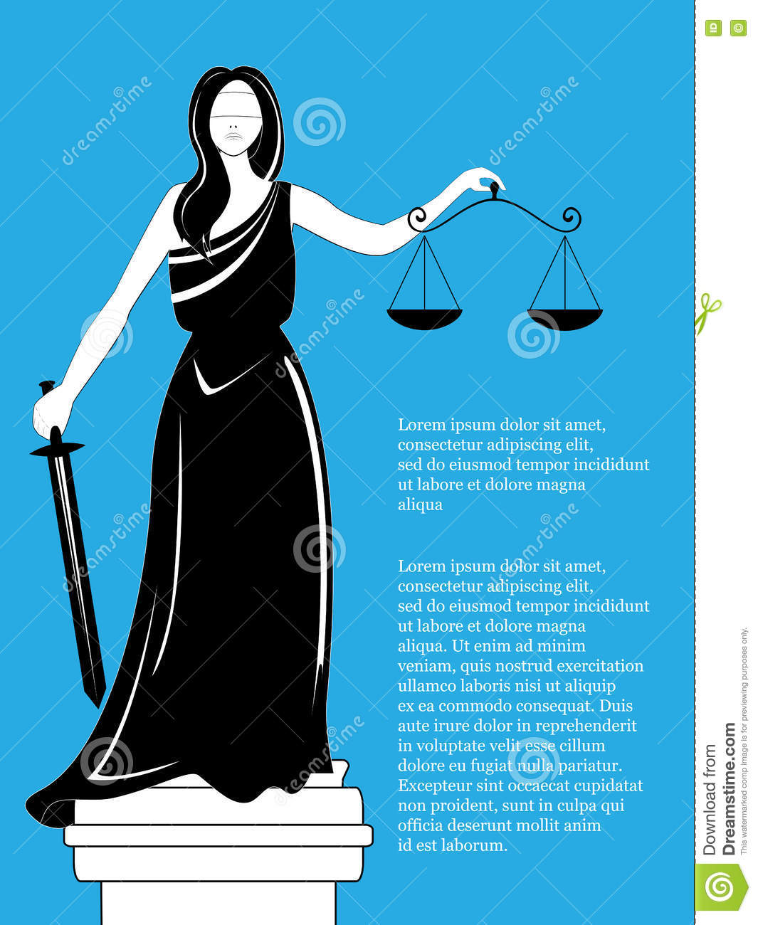 Goddess of justice Themis. Femida . Goddess of justice Femida with balance and sword. Themis statue