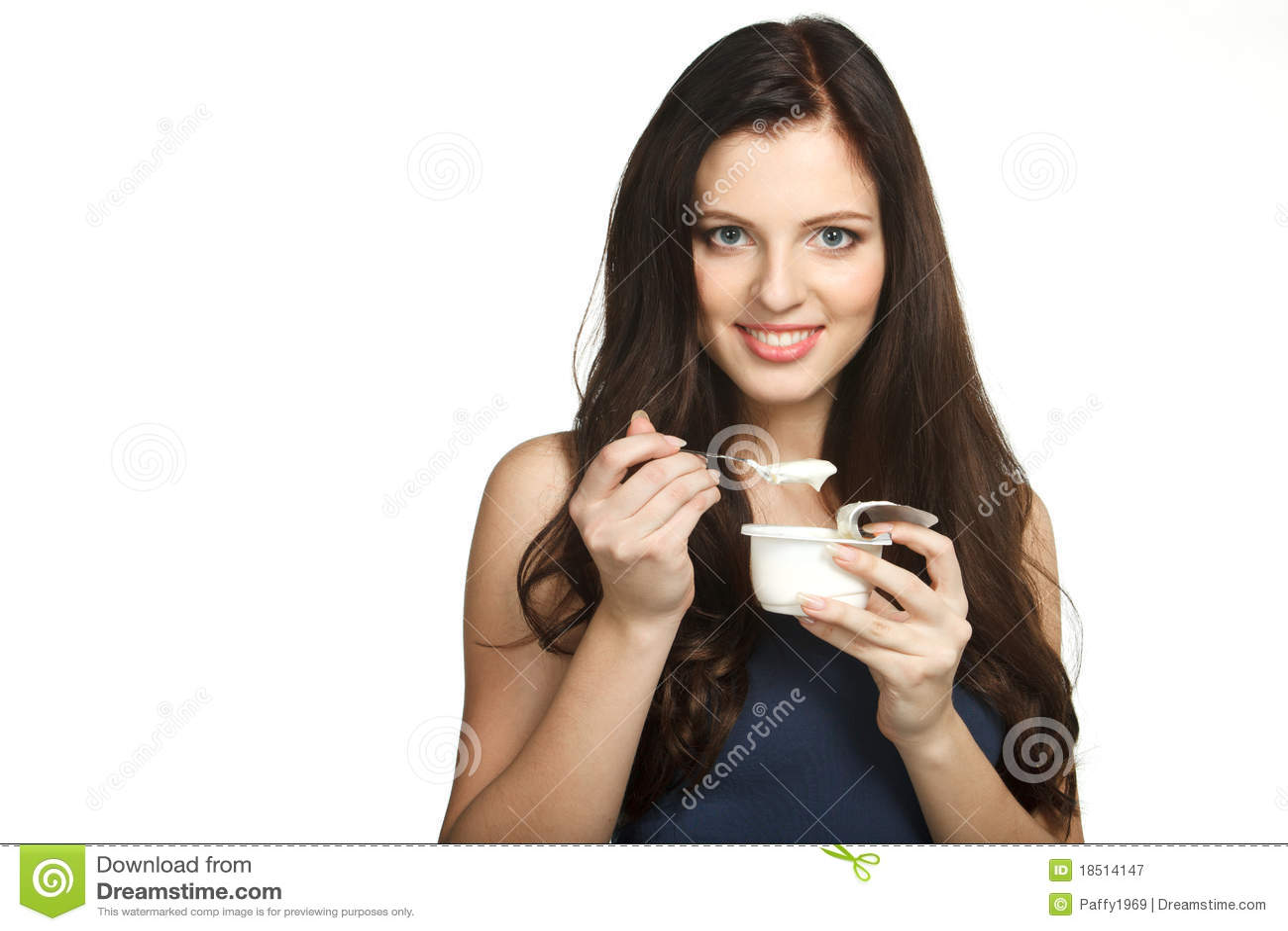 Godere del gusto di yogurt