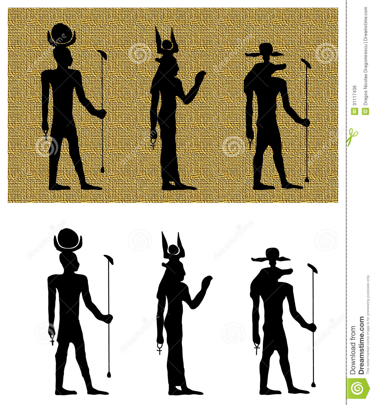 Gods of ancient egypt silhouettes stock illustration gods of ancient egypt silhouettes biocorpaavc