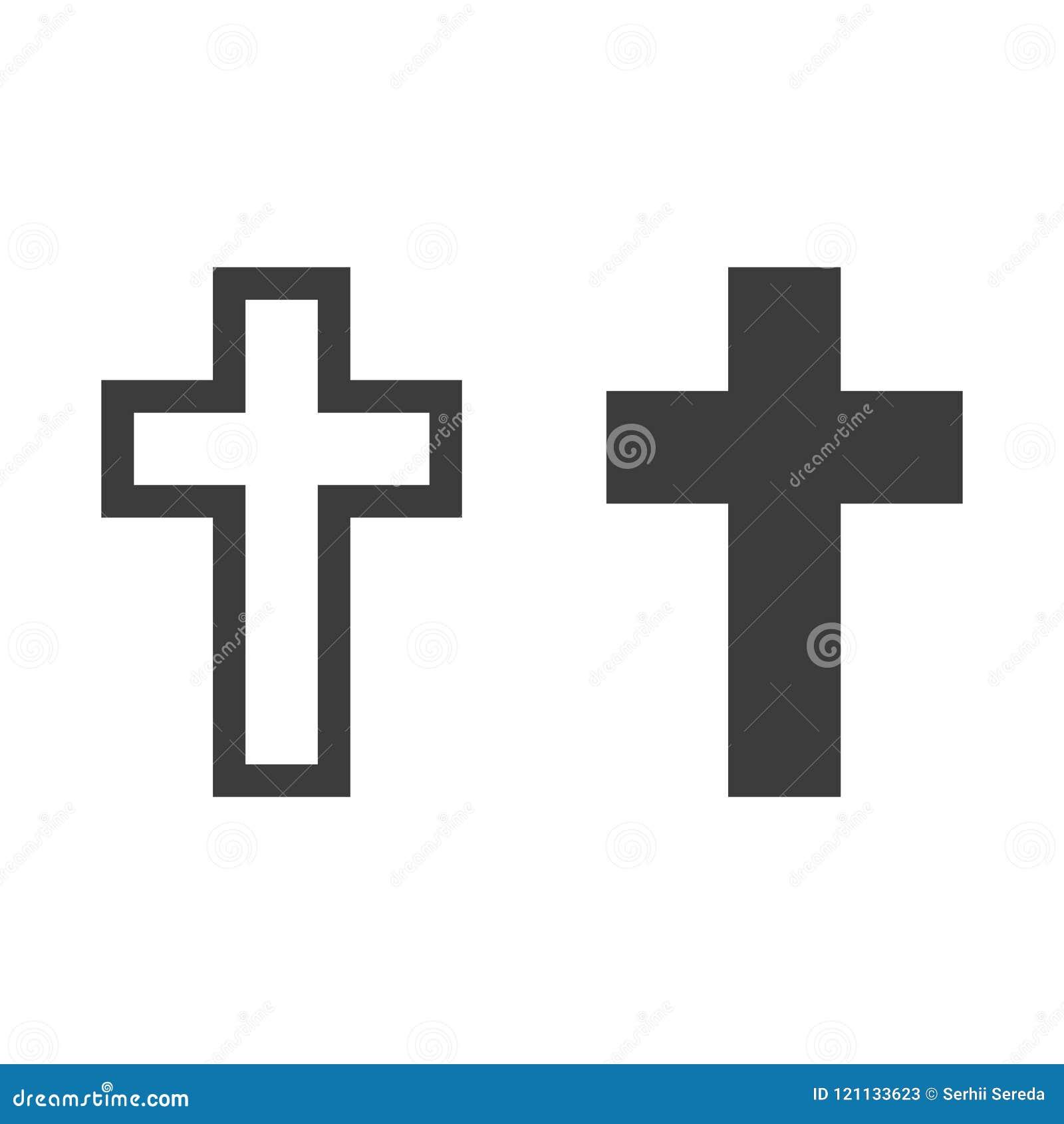 Godsdienst dwarspictogram op witte achtergrond