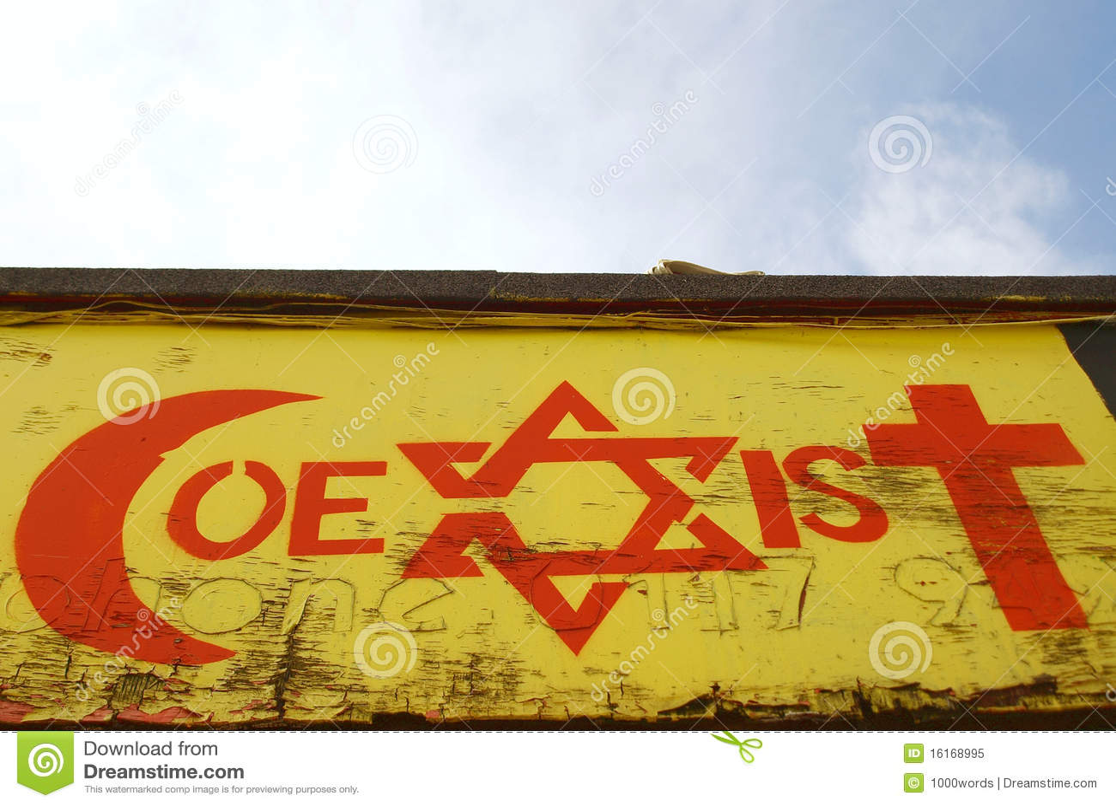 Godsdienstige Tolerantie Themed Graffiti