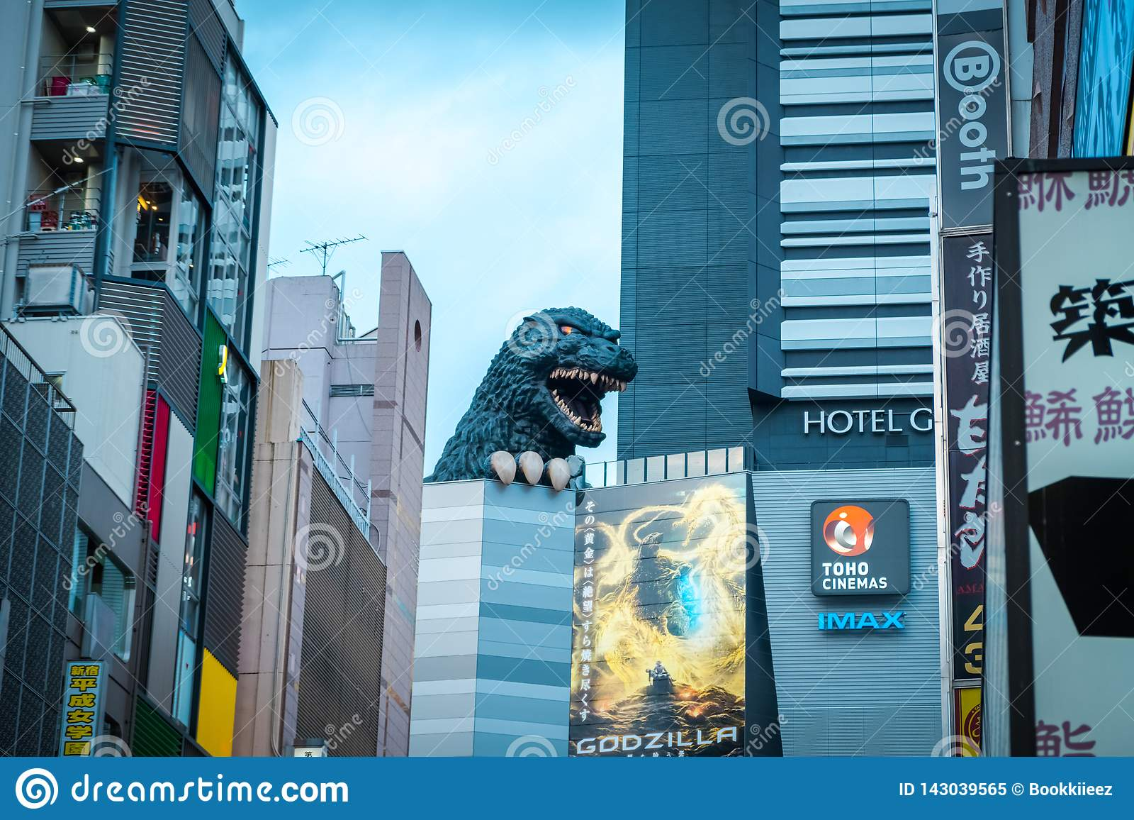Godzilla στην οδό στην περιοχή Kabukicho, Shinjuku, Ιαπωνία