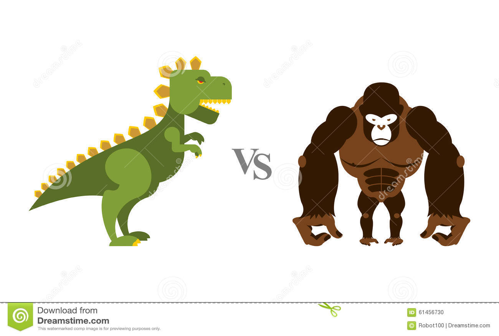 Godzilla contre le Roi Kong Monstres de bataille Grands singe et cicatrice sauvages