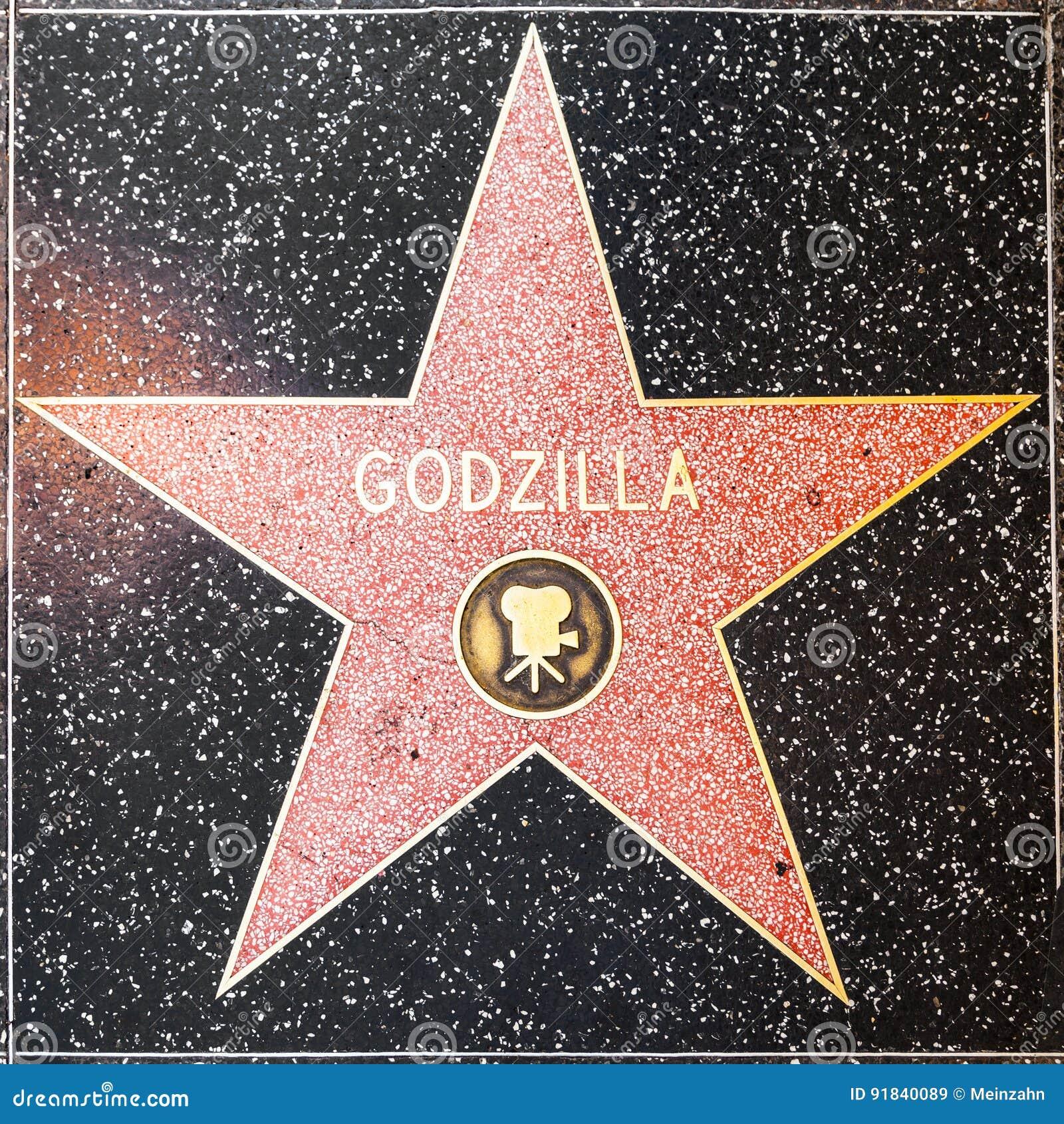 Godzillasster op Hollywood-Gang van Bekendheid