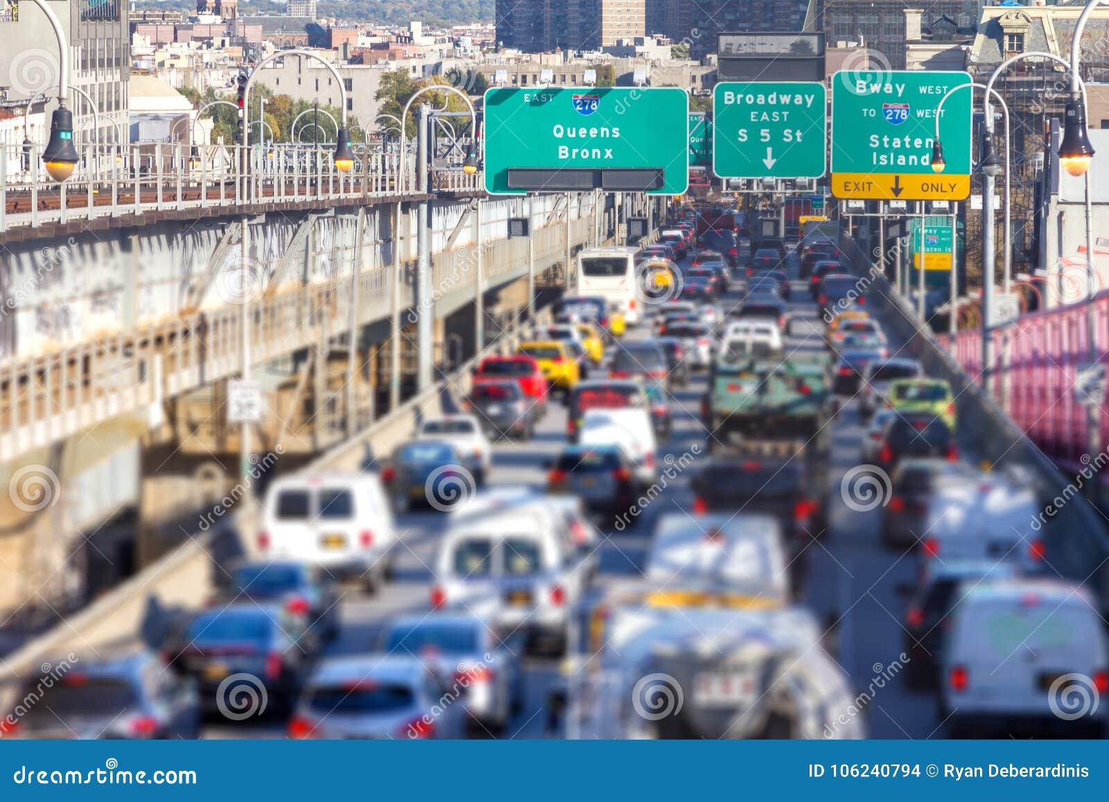 Godzina szczytu ruchu drogowego dżem w Miasto Nowy Jork