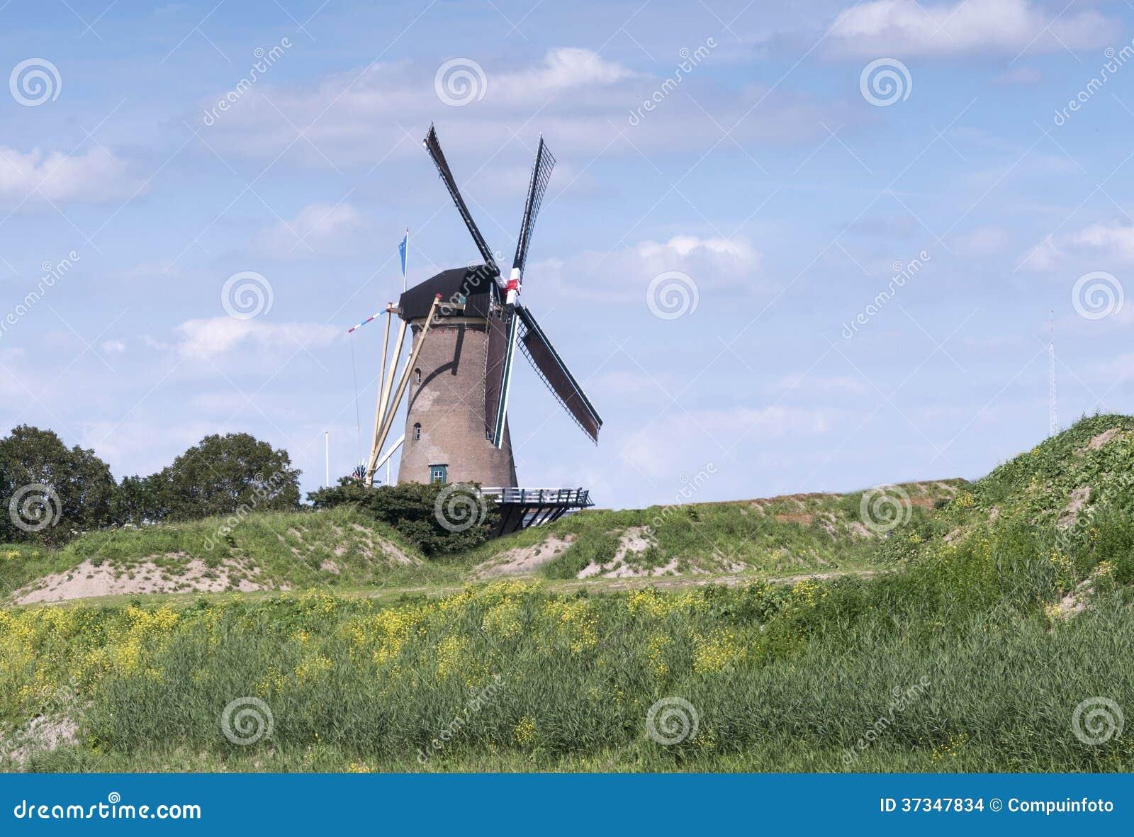 Goed beslag för väderkvarn de i holland