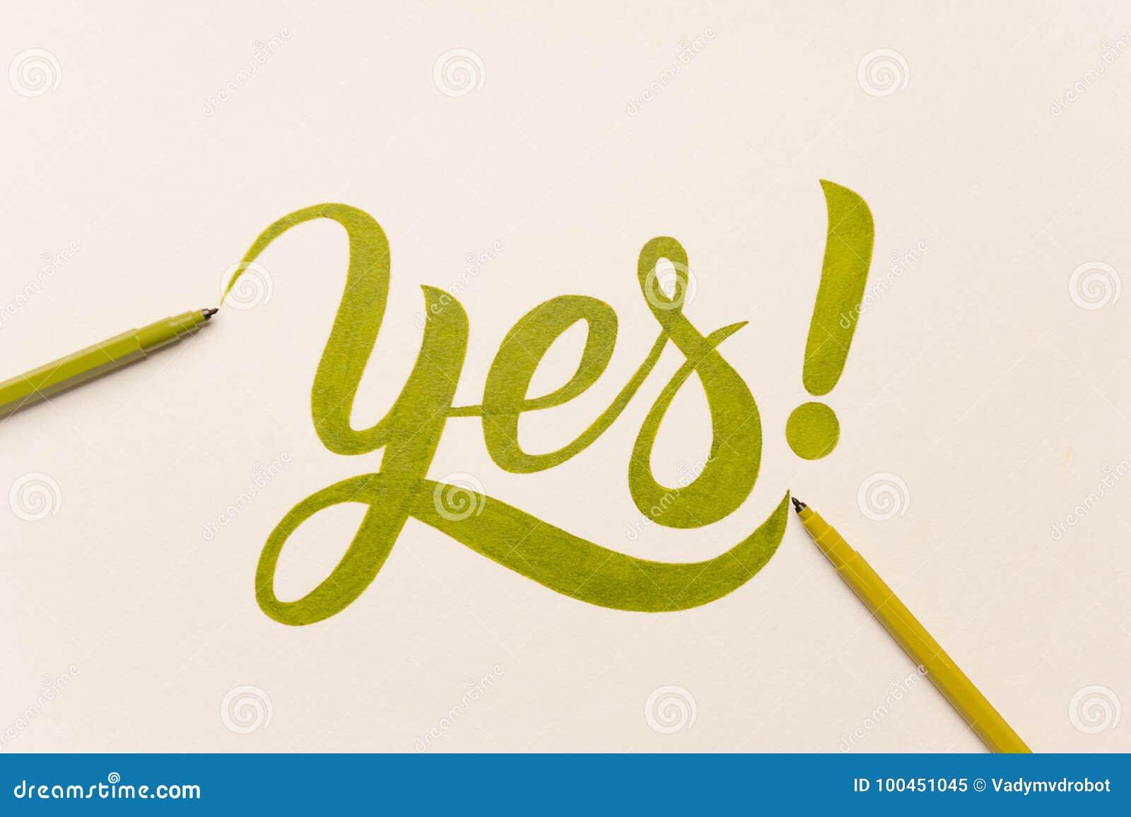 Goedkeurings motievenuitdrukking met de hand geschreven met groene teller
