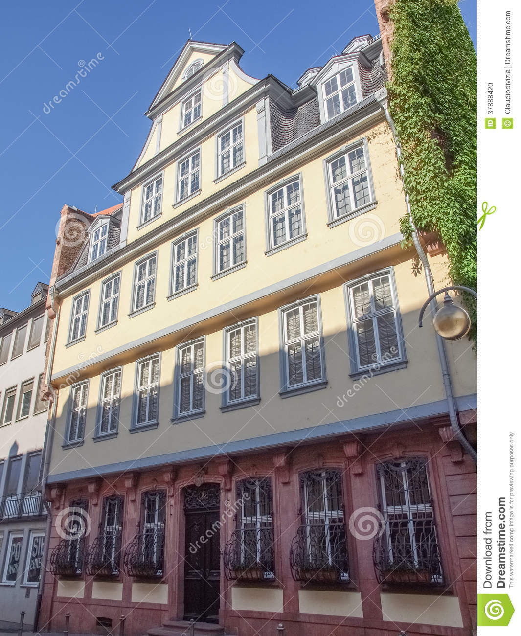 Goethe Haus Frankfurt Stock Photo Image Of Haus Johann 37888420