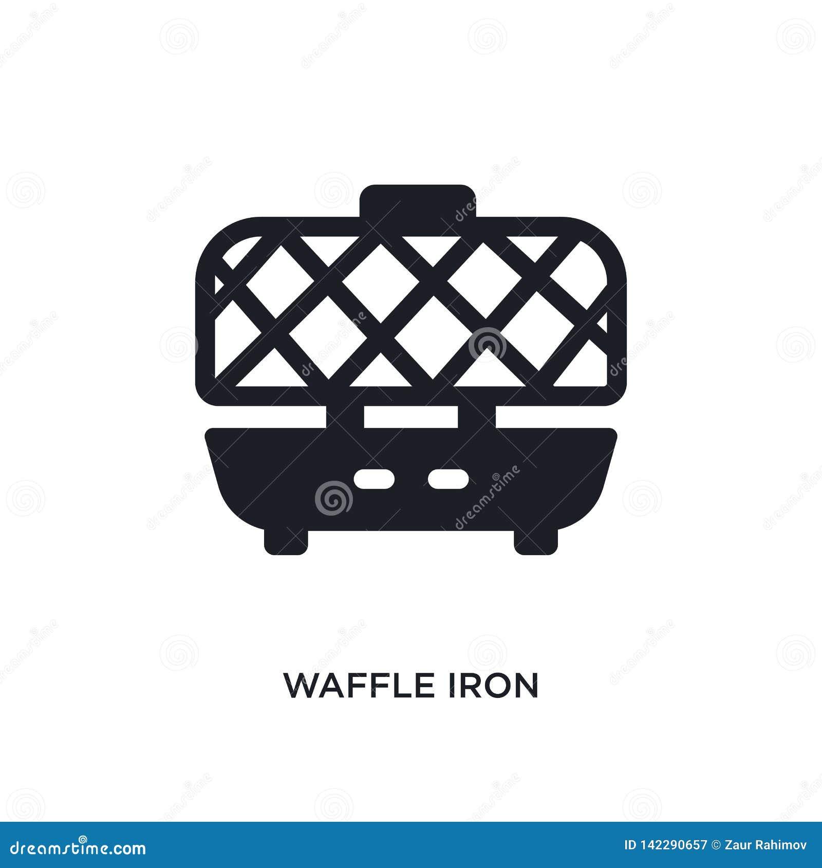 Gofra żelaza odosobniona ikona prosta element ilustracja od kuchennych pojęcie ikon gofra żelaza logo znaka symbolu editable proj