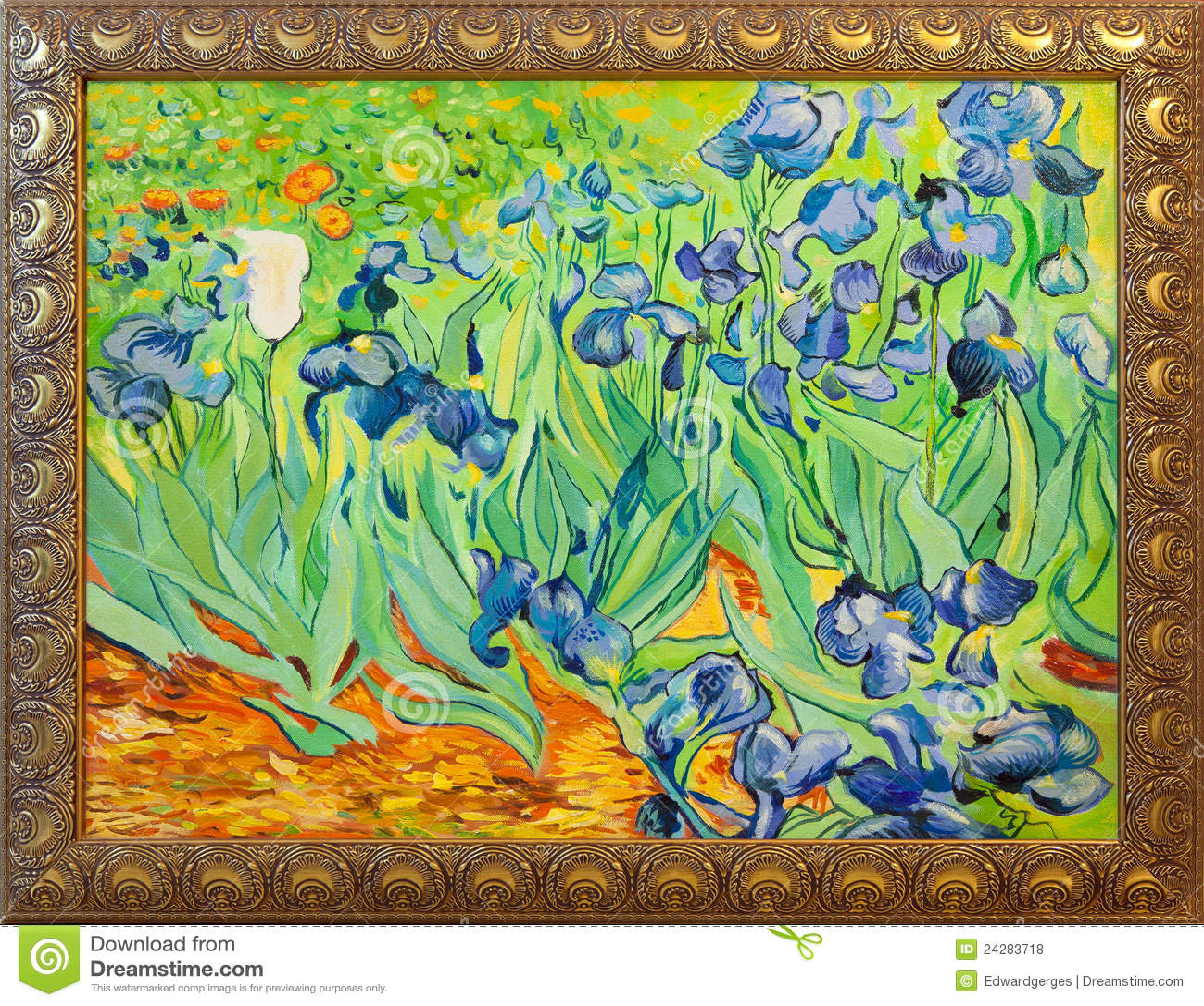 Gogh使绘画有篷货车现虹彩