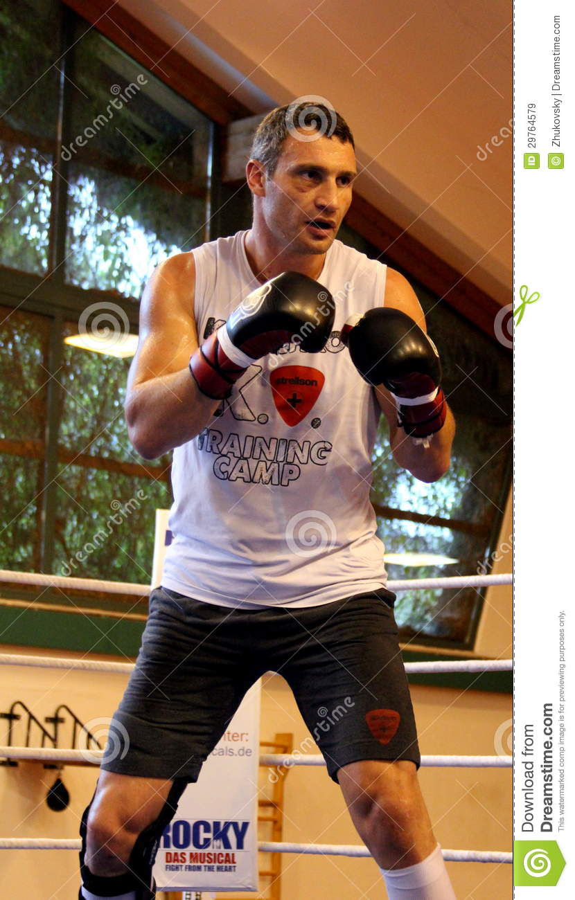 Current World Heavyweight Champion Boxer Vitali Klitschko Getting