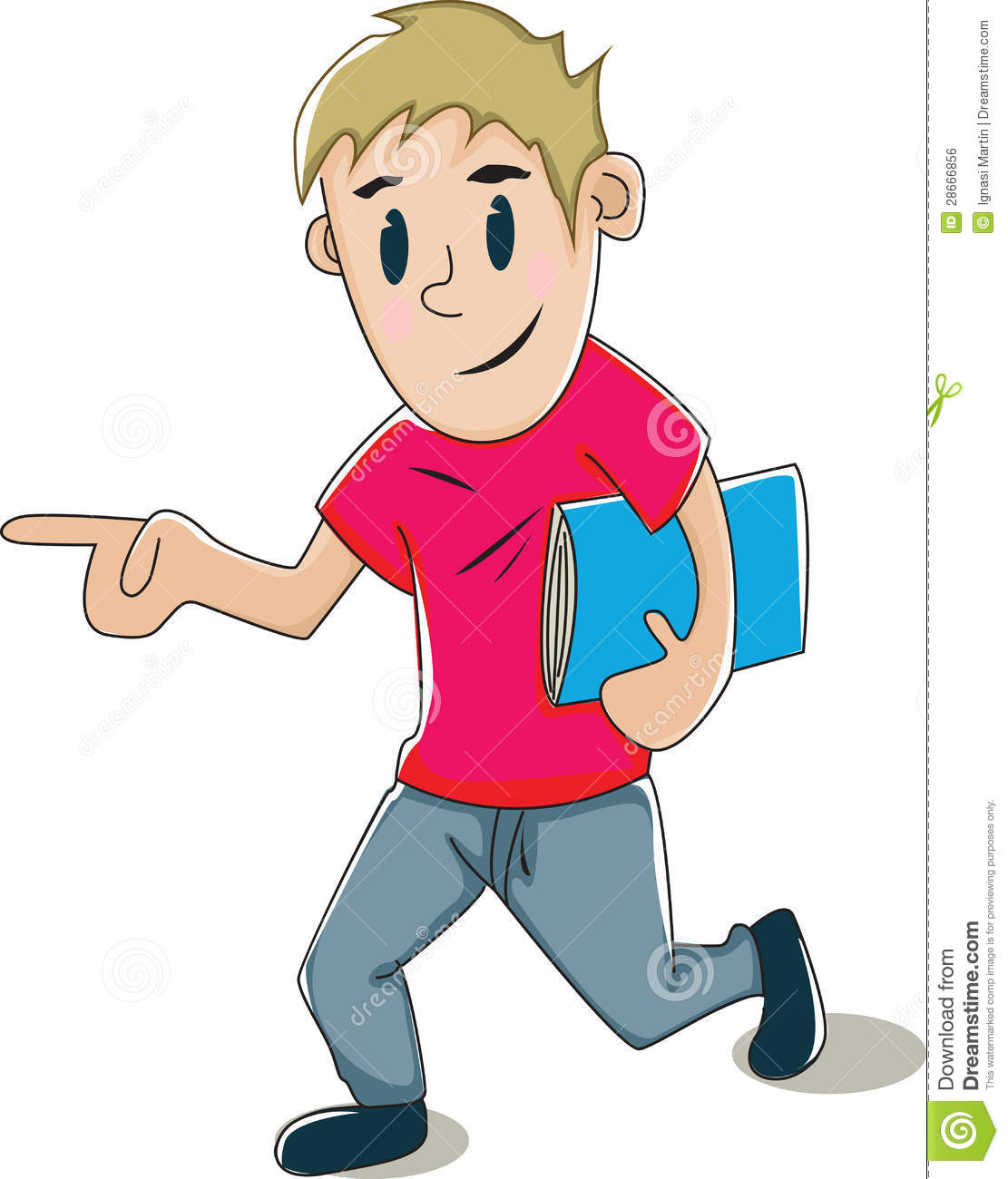 boy going to school clipart