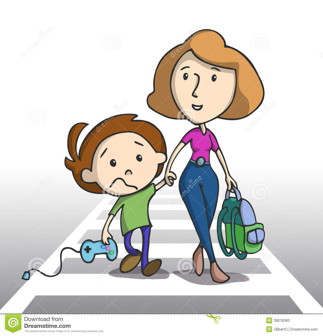 Image result for mom taking son to school cartoon