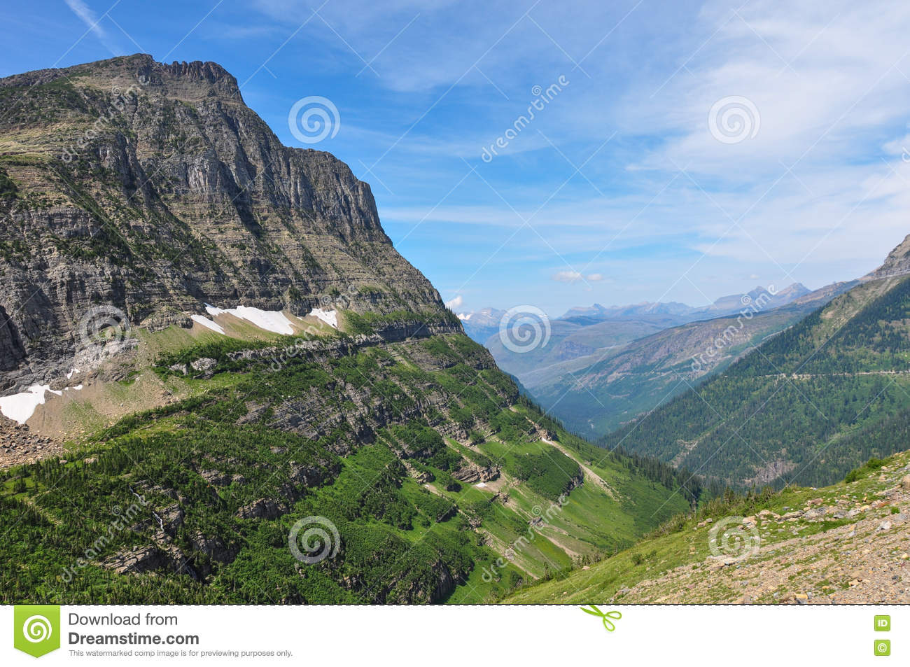 Glacier National Park: Going-to-the-sun Road Royalty-Free ...
