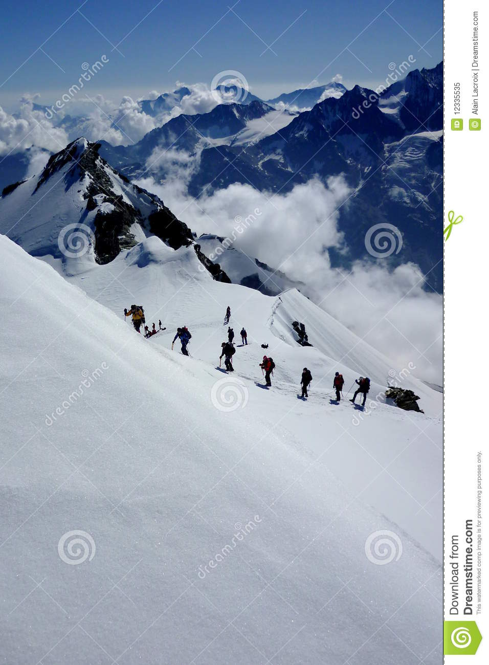 Going Up The Mountain Royalty Free Stock Photo Image