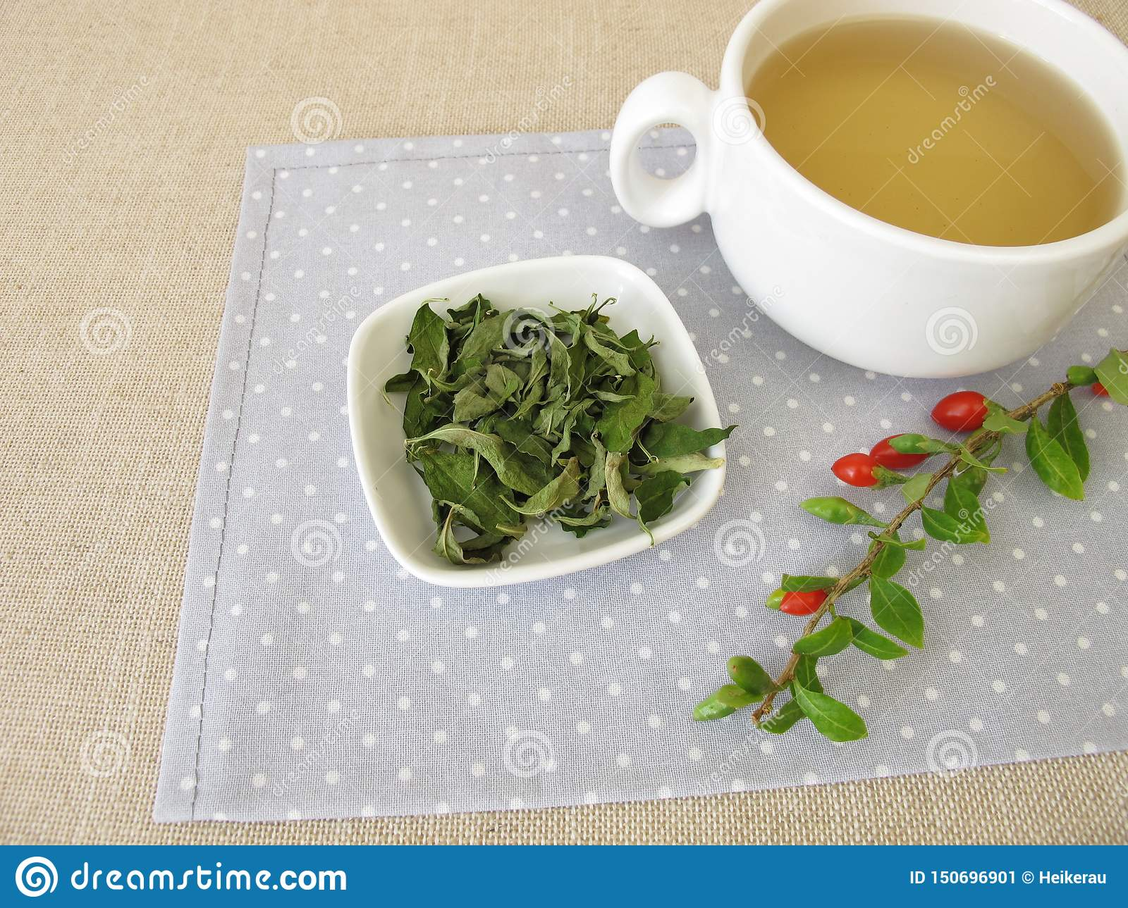 Goji Leaves Tea Stock Image Image Of Goji Berry Herbal 150696901