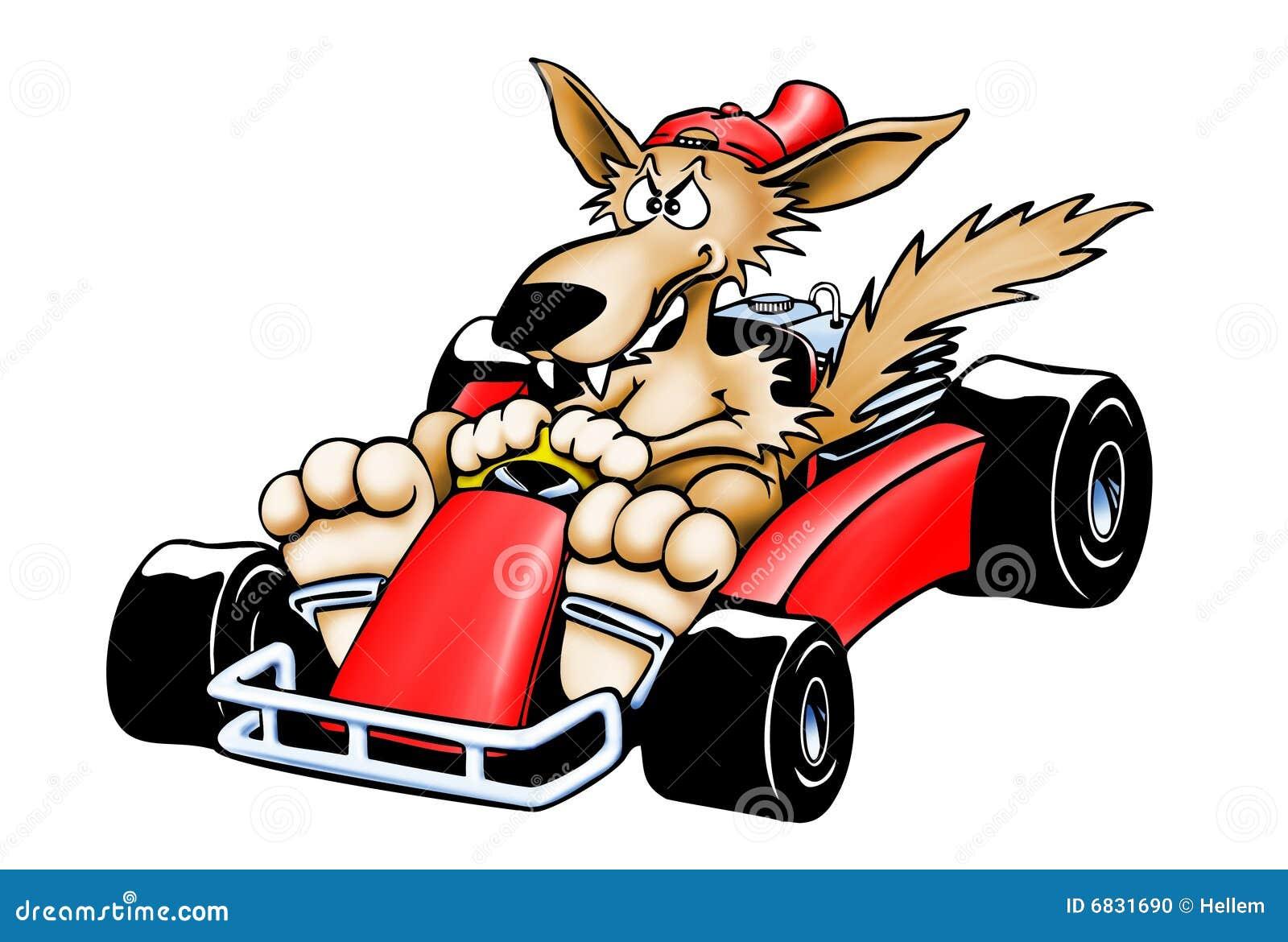 Gokart Wolf Isolated Stock Photo Image 6831690