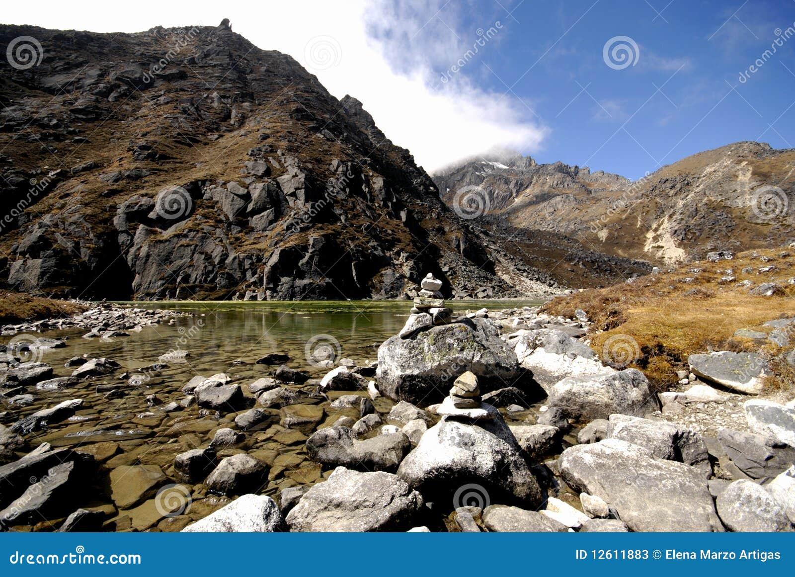 Gokyo Sacred Lake Stock Photos - Image: 12611883