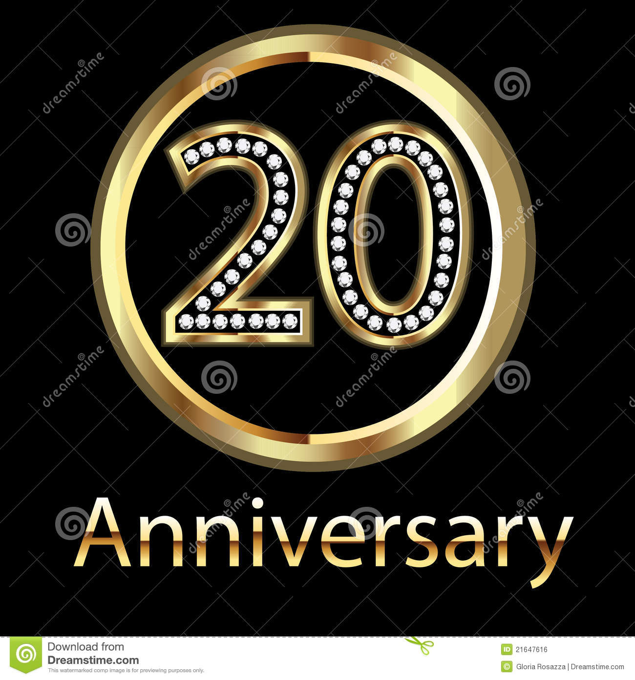 ... 20th Anniversary Birthday Royalty Free Stock Image - Image: 21647616