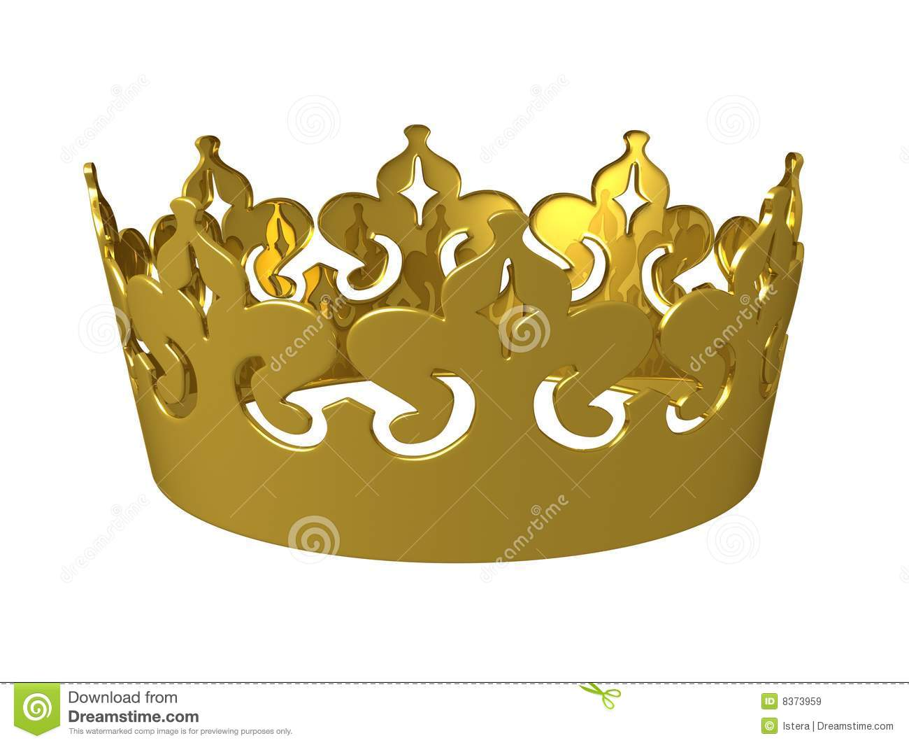 Gold 3d Kings Crown Royalty Free Stock Images Image 8373959