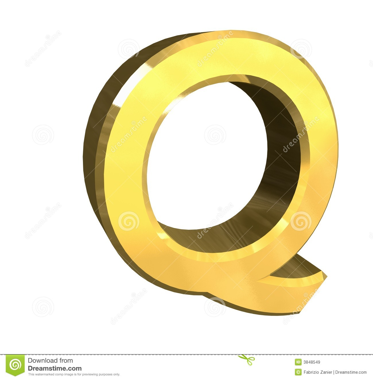 Gold 3d Letter Q Royalty Free Stock Images Image 3848549