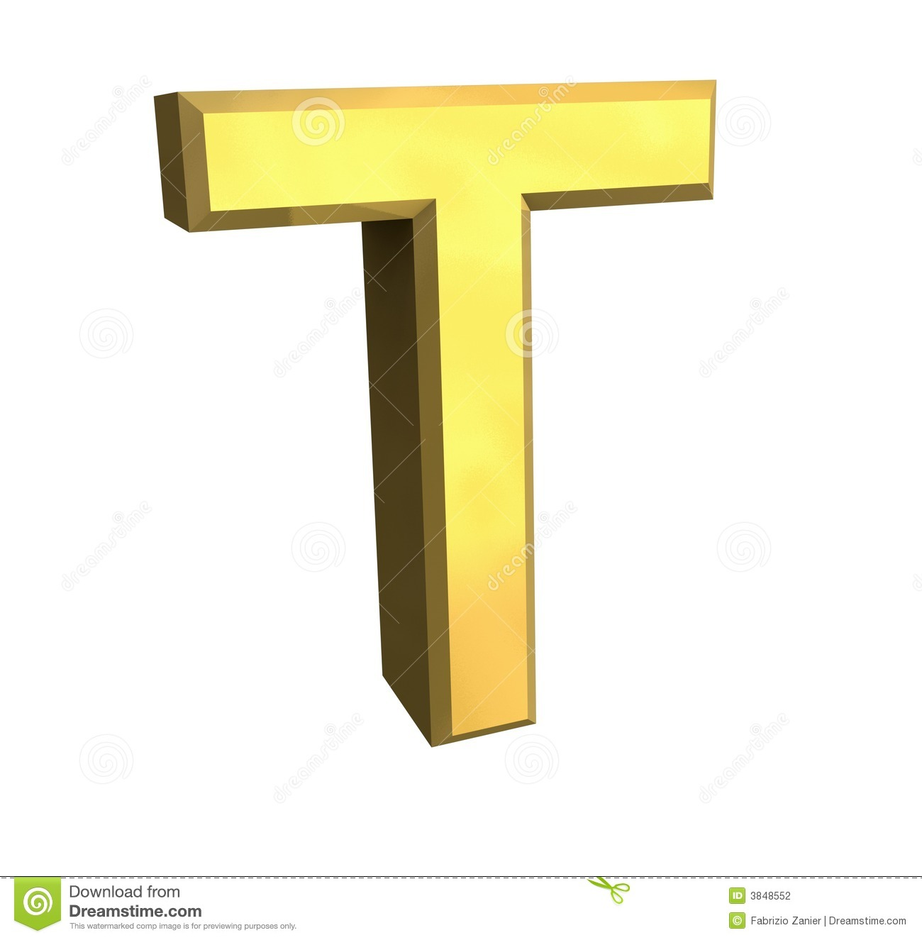 Gold 3d letter T stock illustration. Illustration of ...