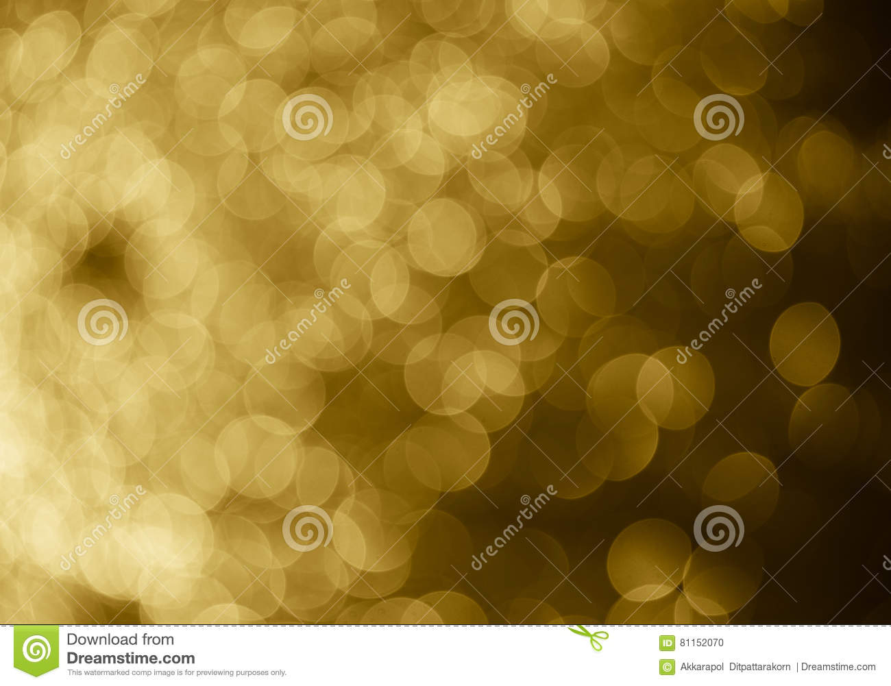 gold abstract background bokeh circles for Christmas background.